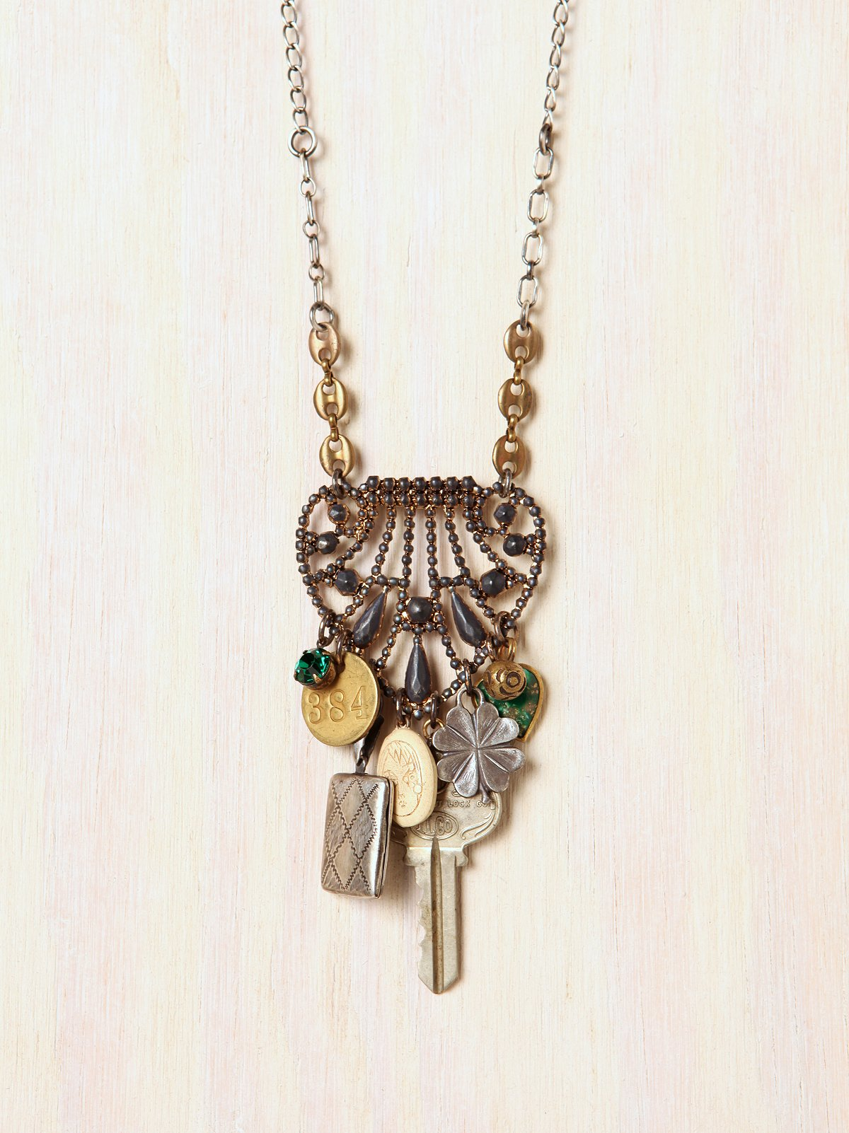 One Of A Kind Deco Findings With Key Necklace