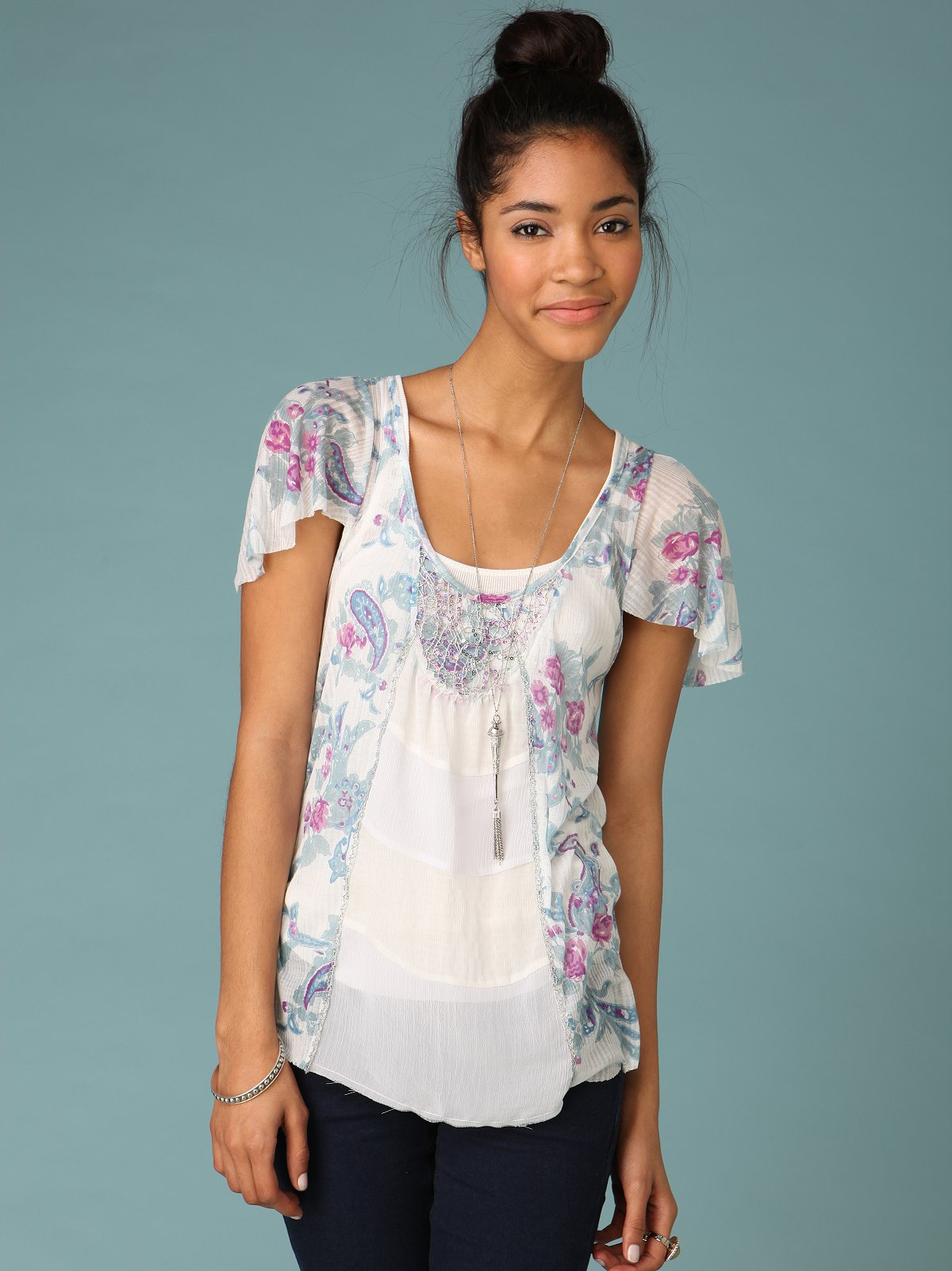 Dehli Blooms Top