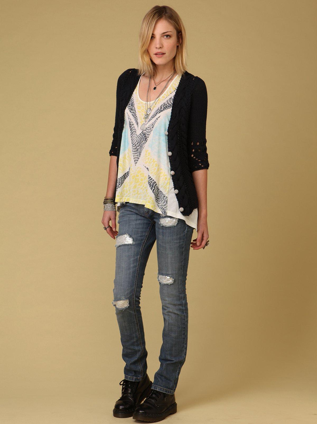 FP Skinny Sequin Jean