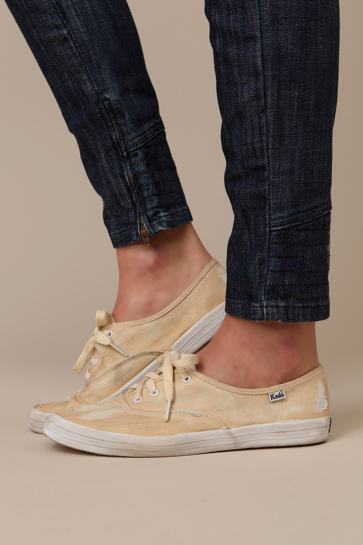 Stained And Distressed Keds