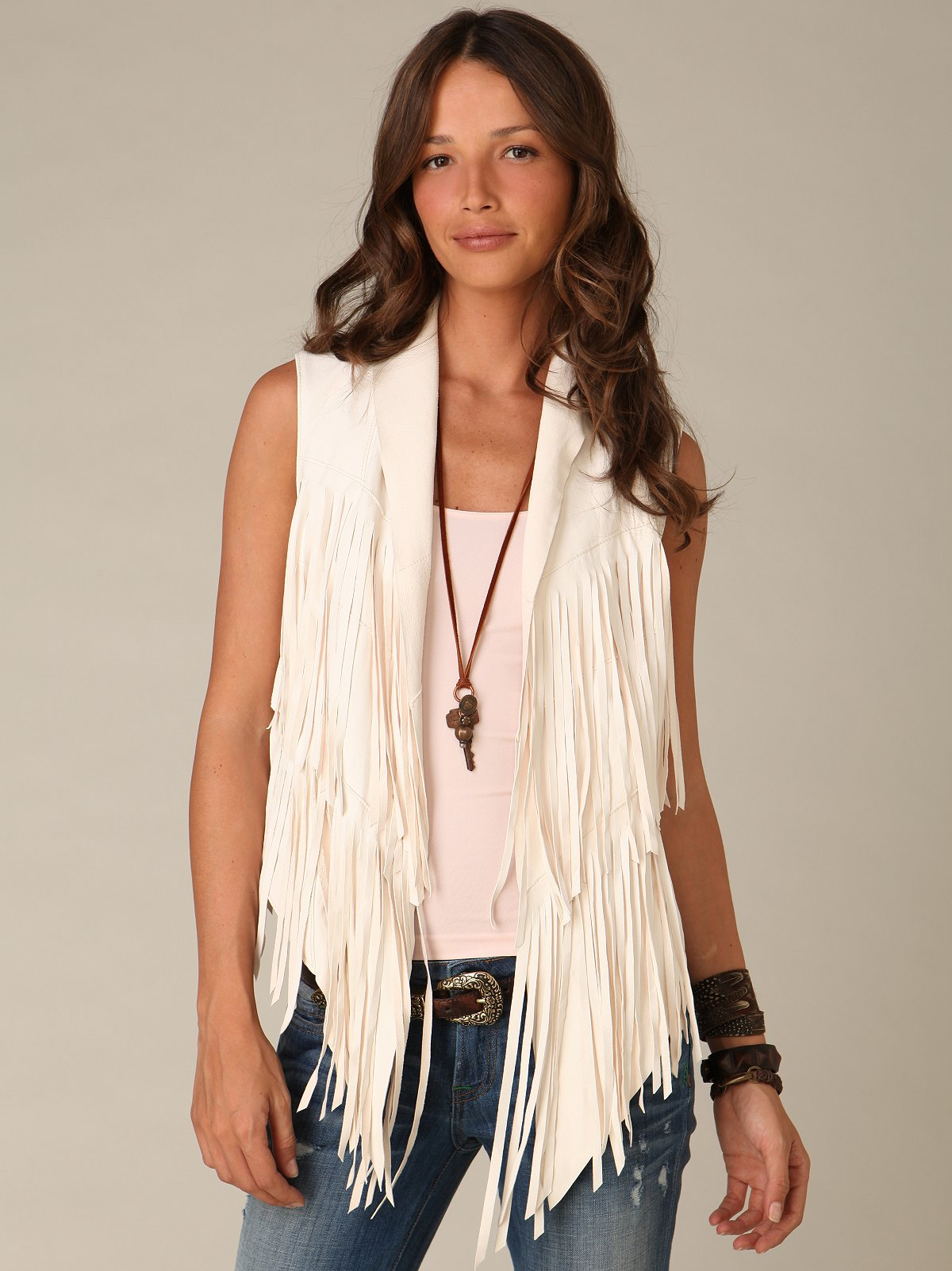 Graham & Spencer Leather Fringe Vest