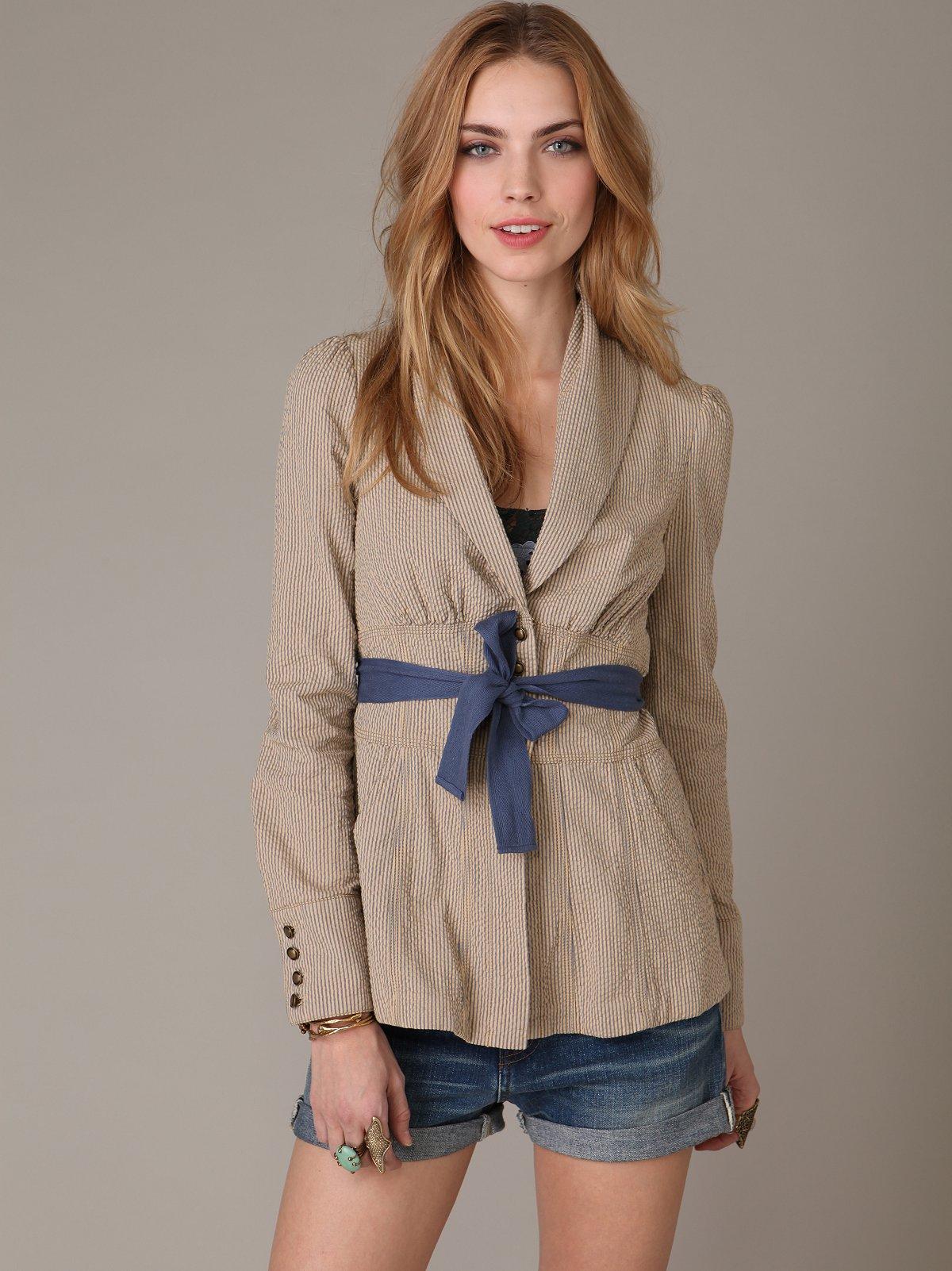 Match Stripe Jacket