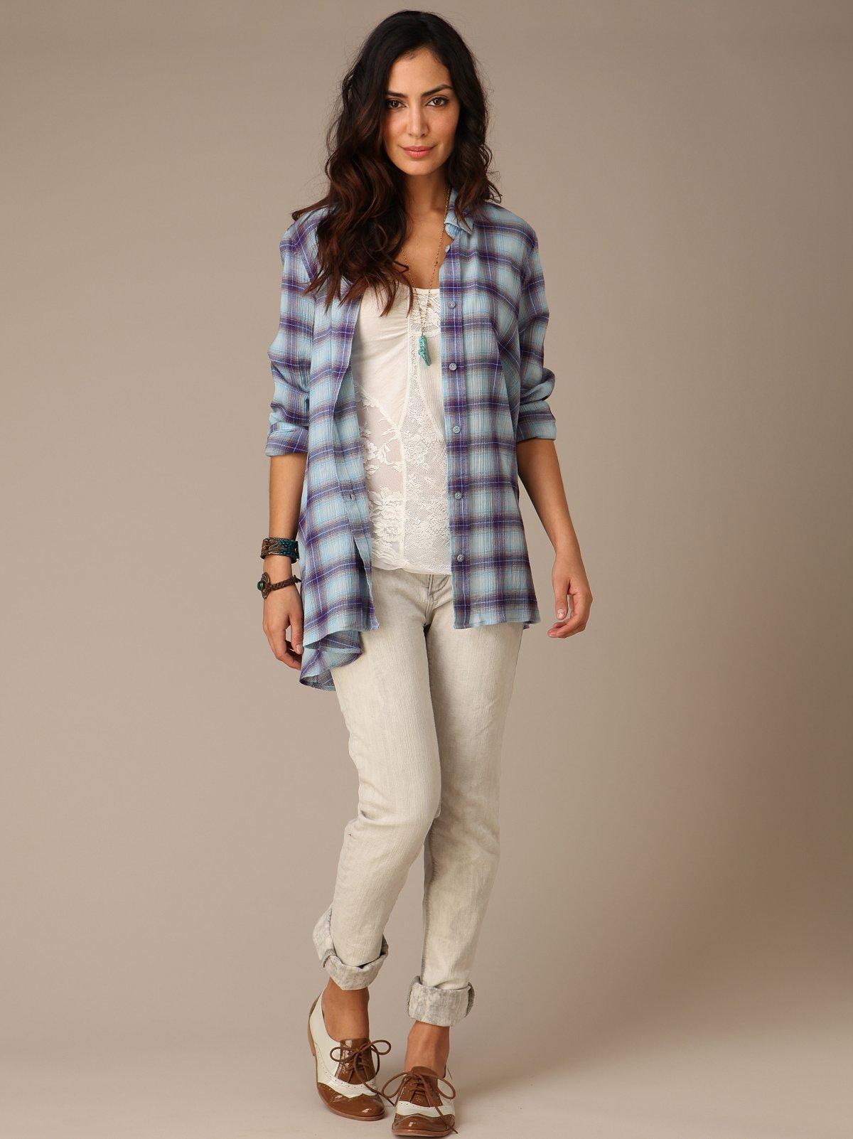 FP Skinny Grey Cloud Jeans