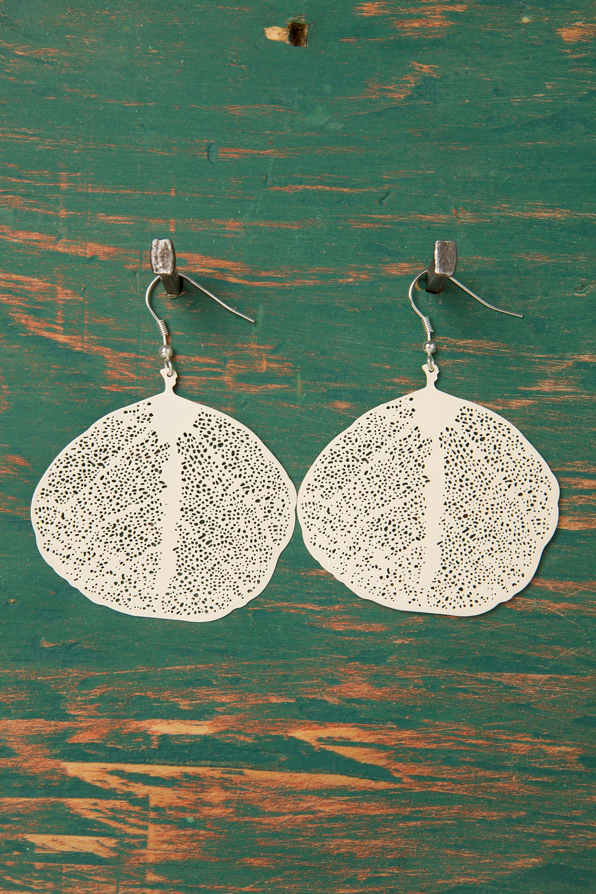 Aspen Pressed Leaf Earring