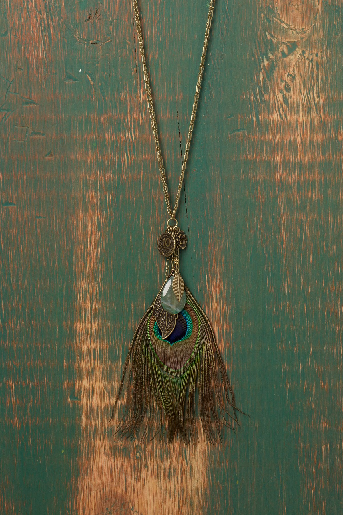 Peacock Charm Necklace