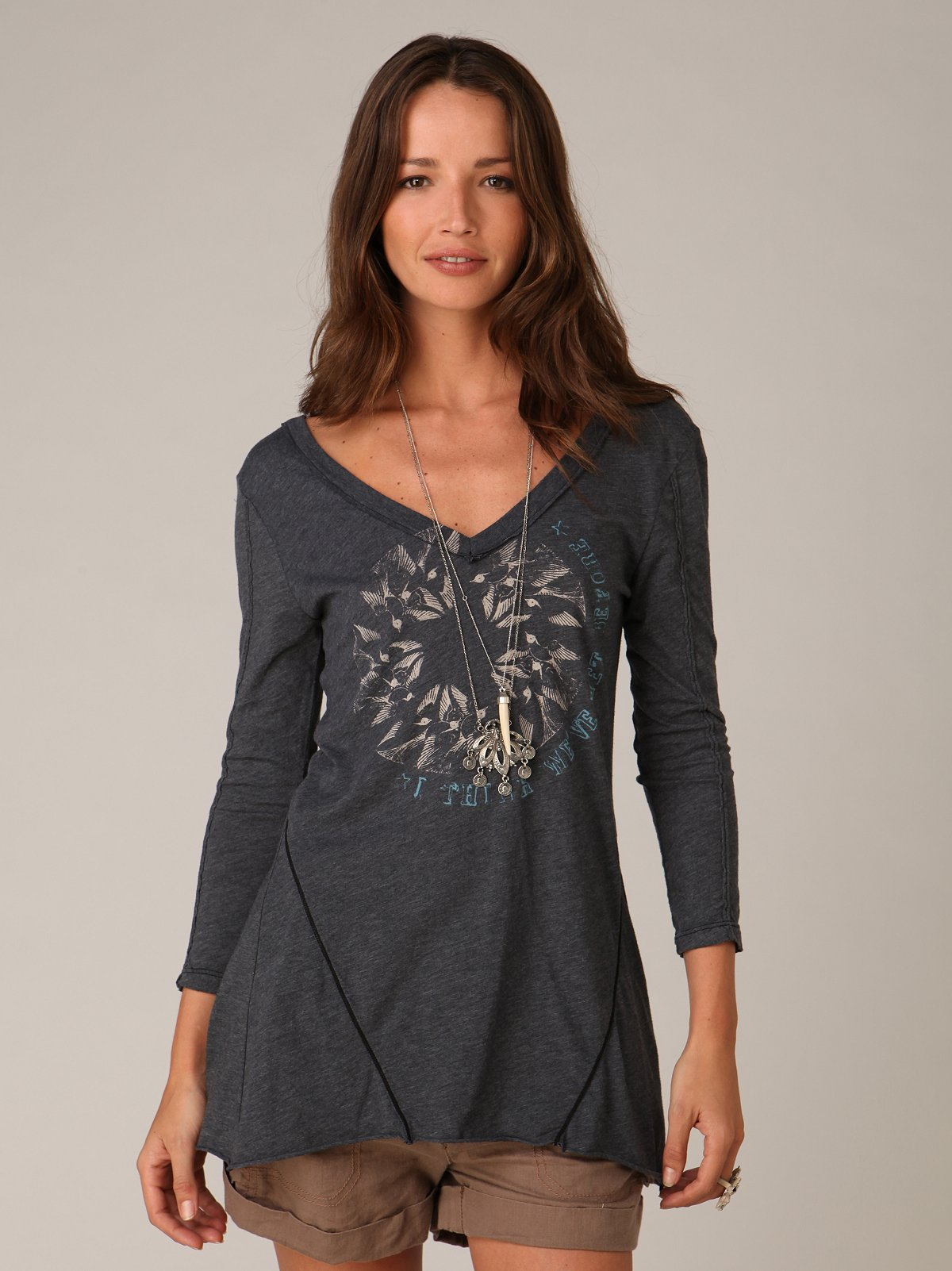We The Free Graphic V Neck Tunic