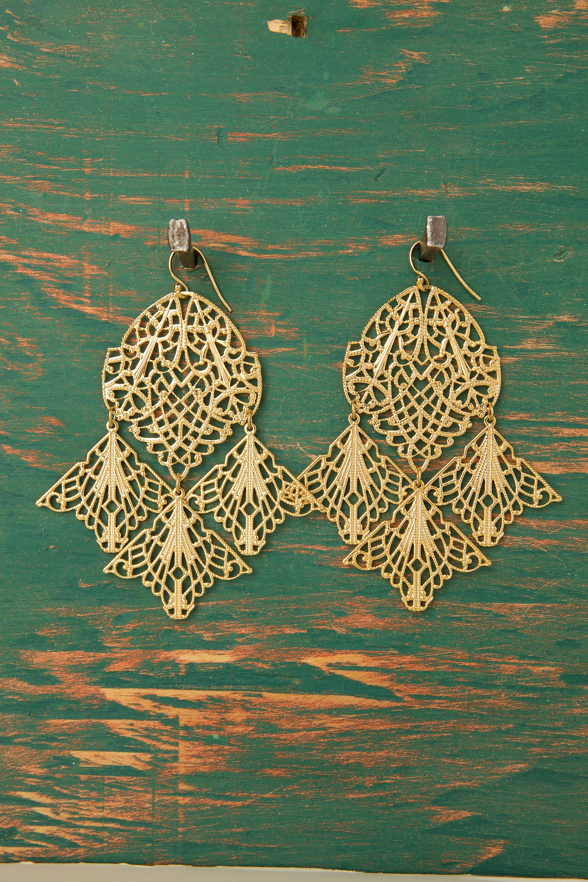 Gold Plated Pressed Earring