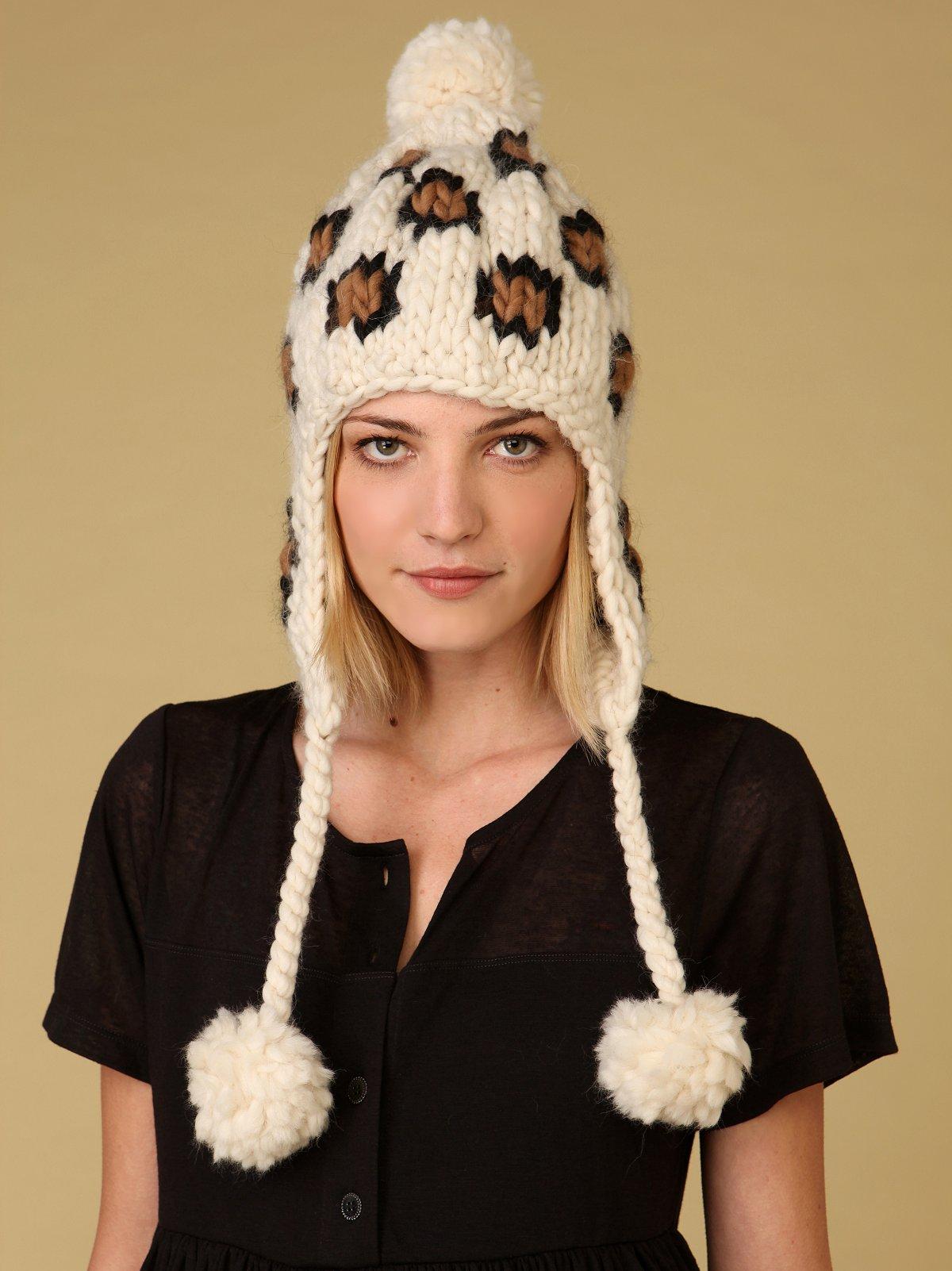 Leopard Earflap Hat