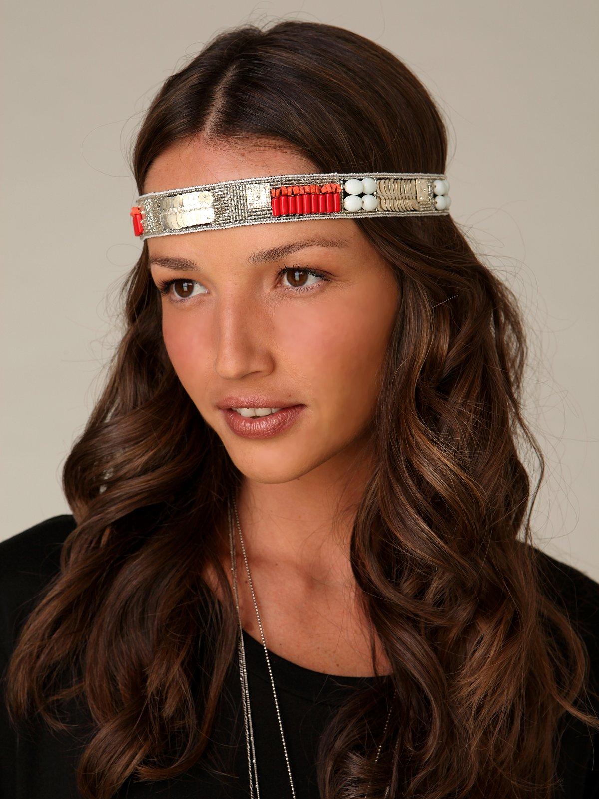 Coral Silver & Stone Headband