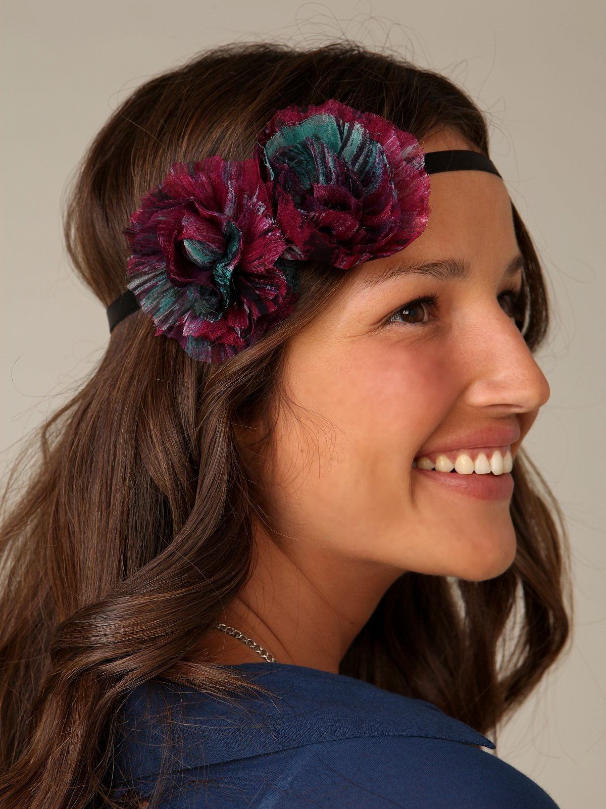 Chiffon Double Flower Headband