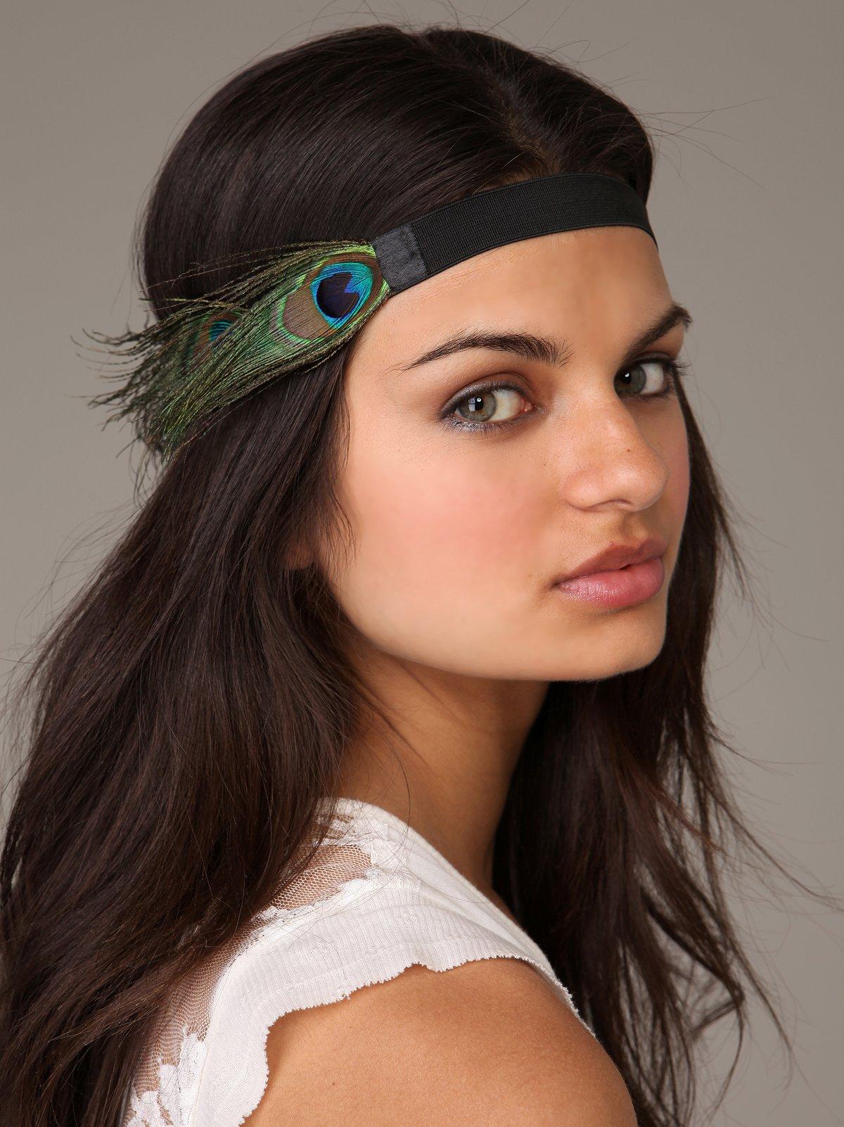 Oversized Peacock Headband