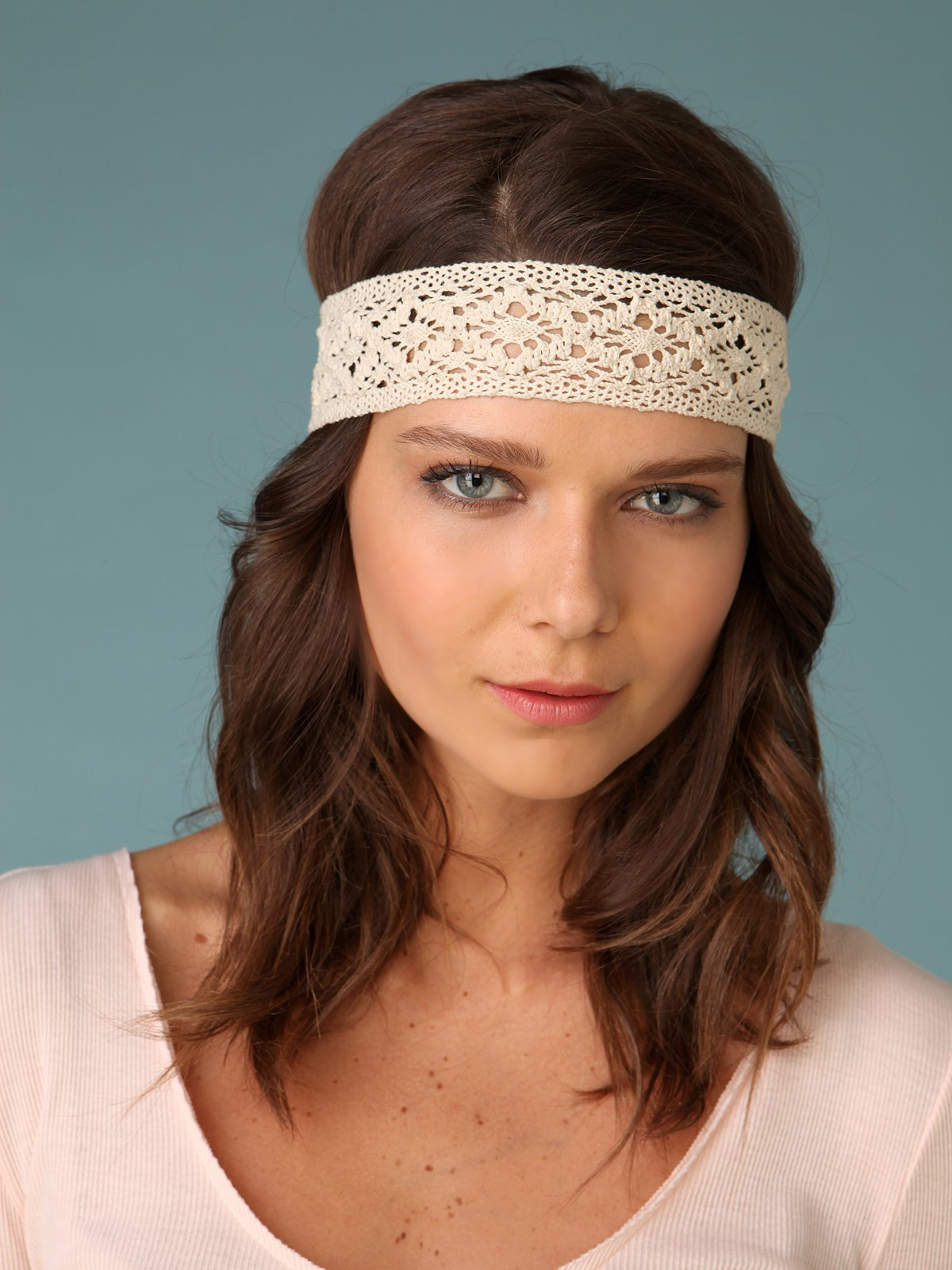 Crochet & Flower Headscarf