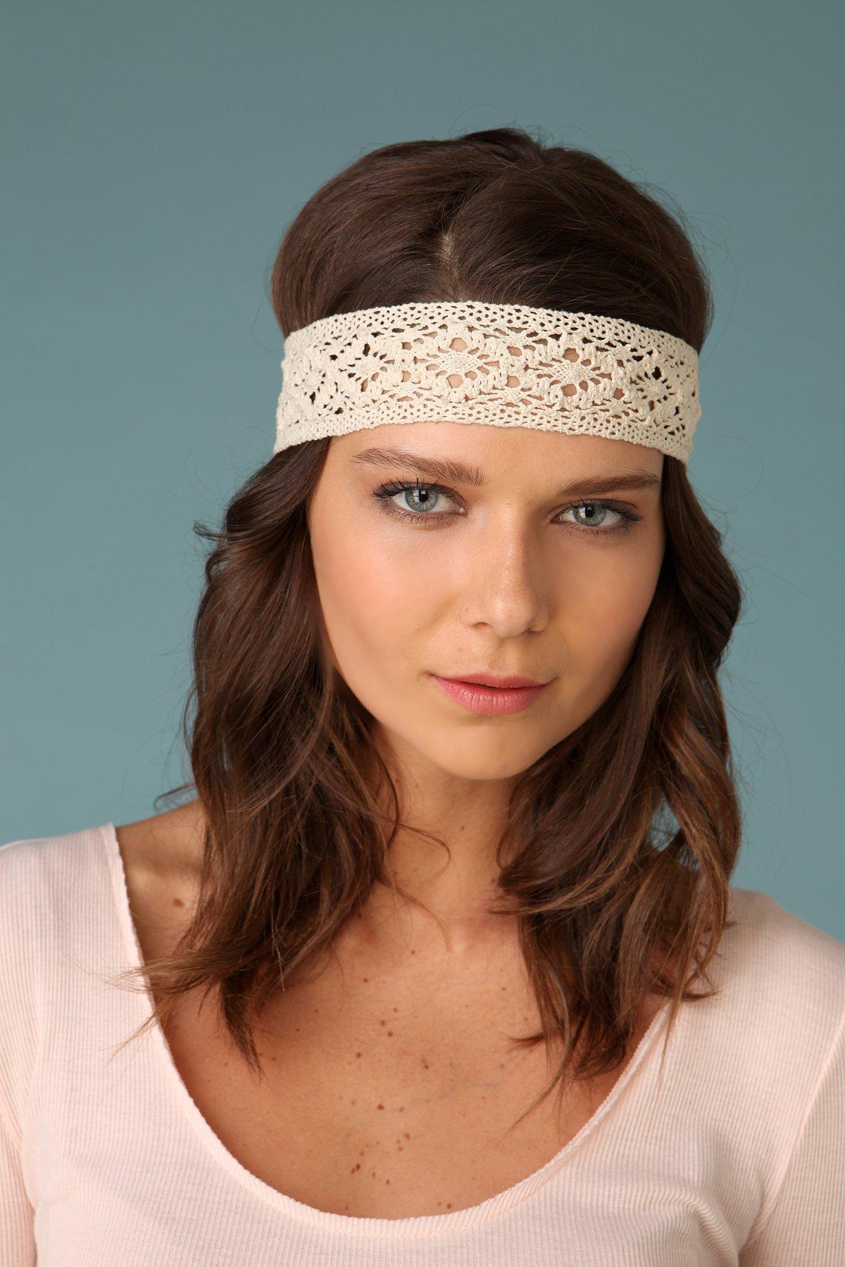 Crochet & Flower Headscarf