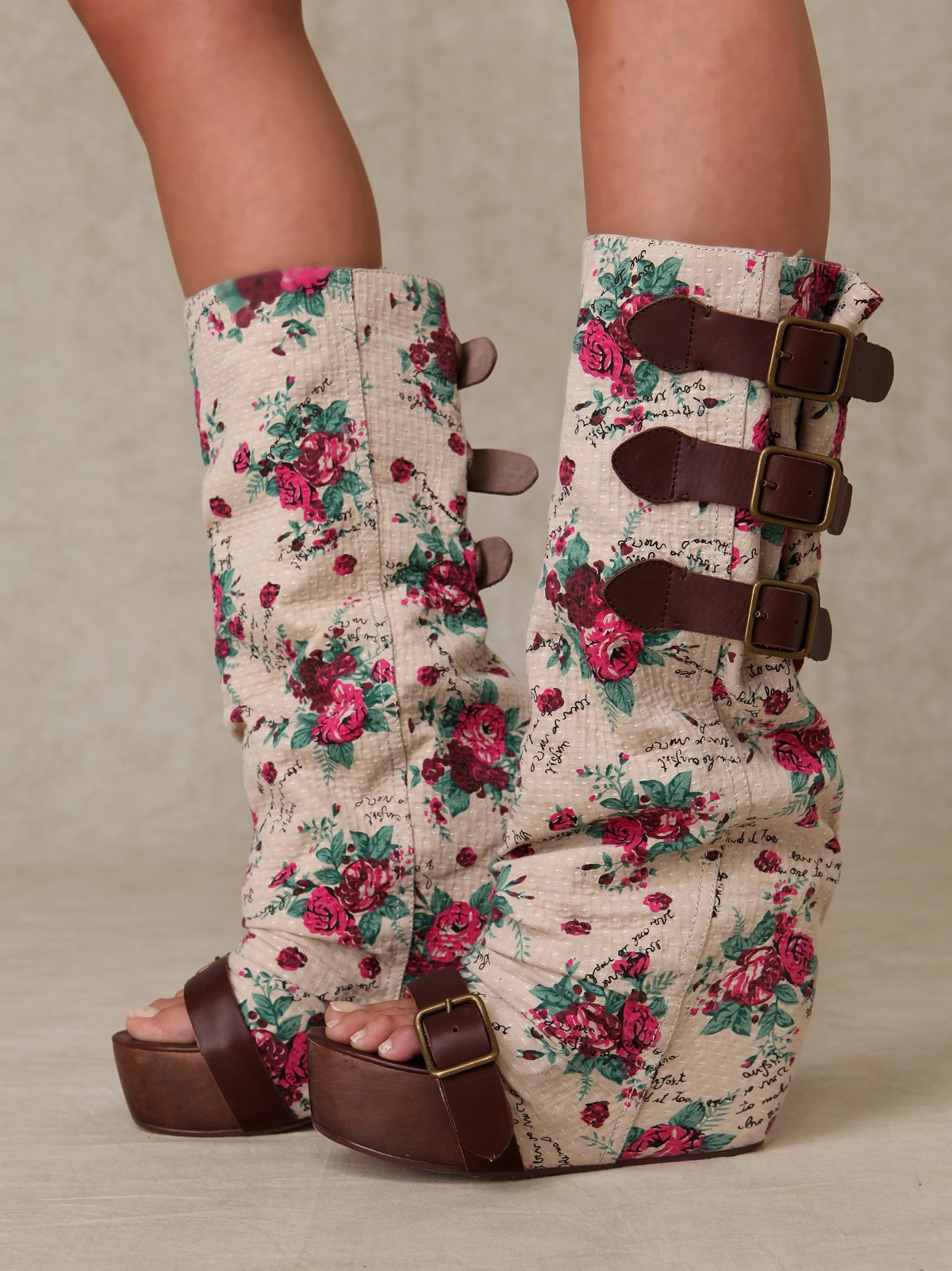 Floral Slouch Clog