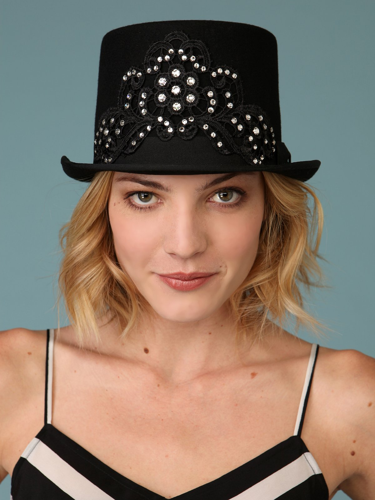 Rhinestone Topper Hat