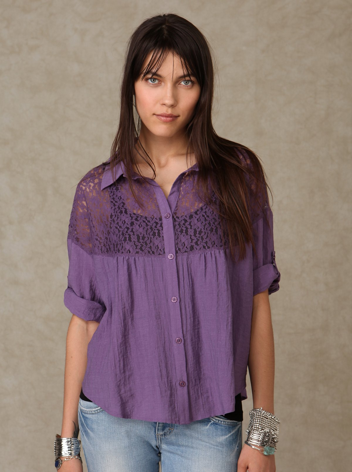 Lace Buttondown Shirt