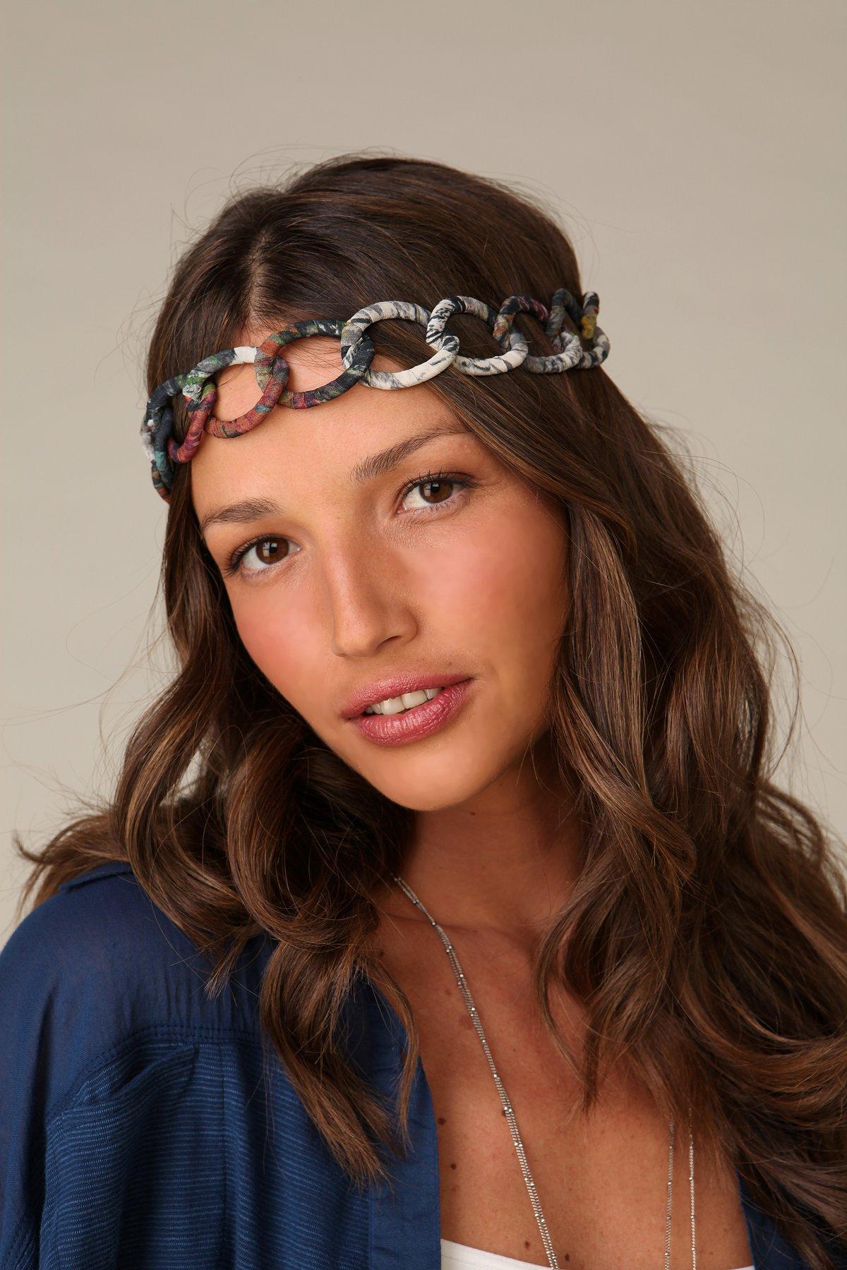 Interlock Printed Chiffon Headband