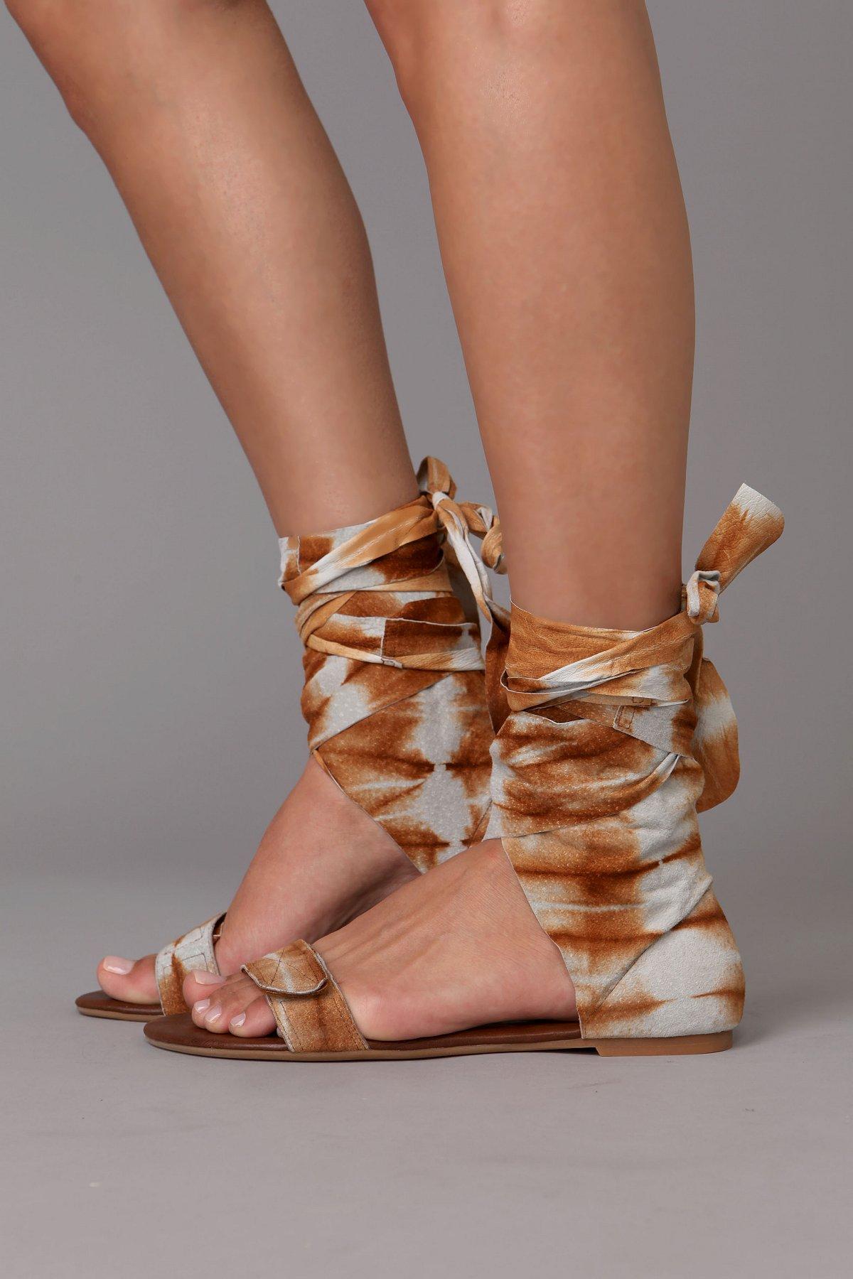 Batik Wrap Sandal