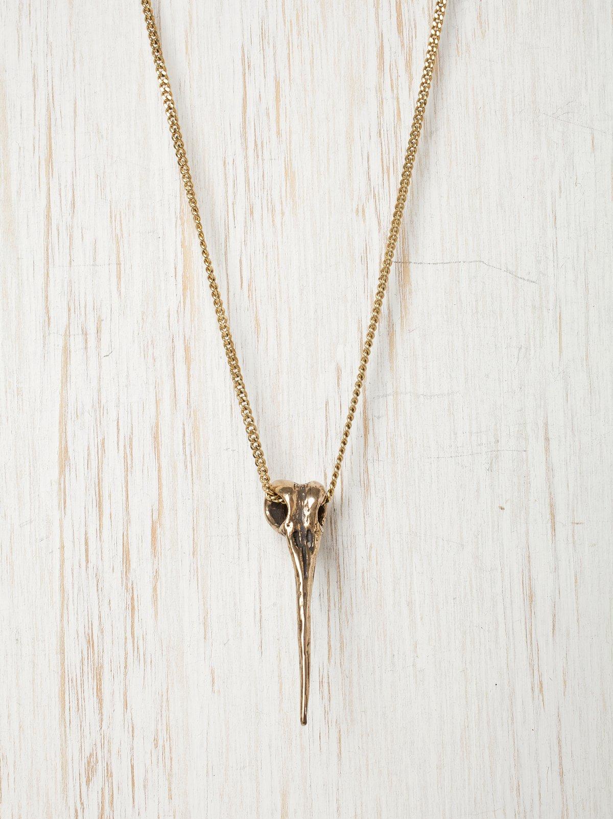 Jessica Seaton Gold Hummingbird Necklace