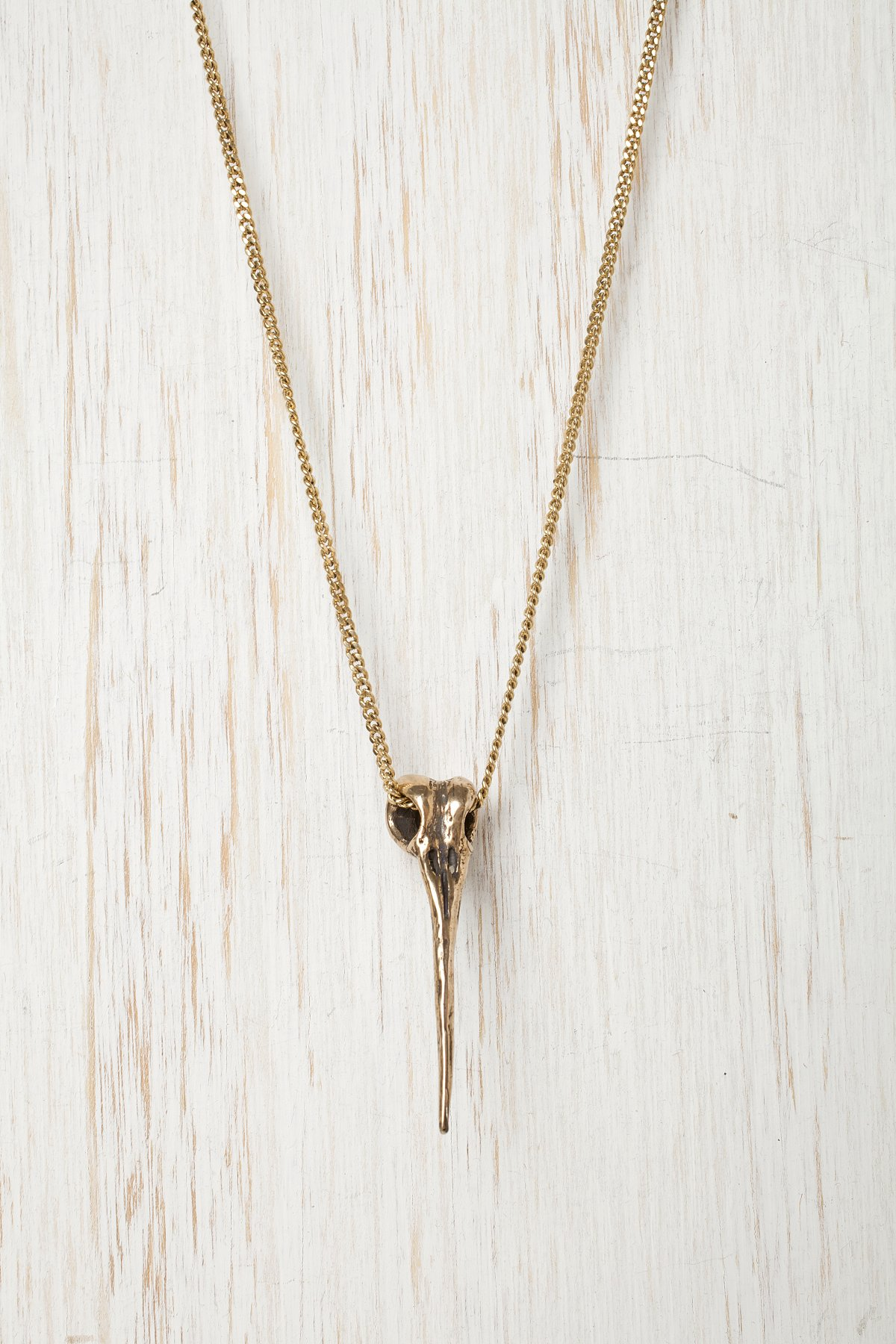 Jessica Seaton Gold Hummingbird Necklace