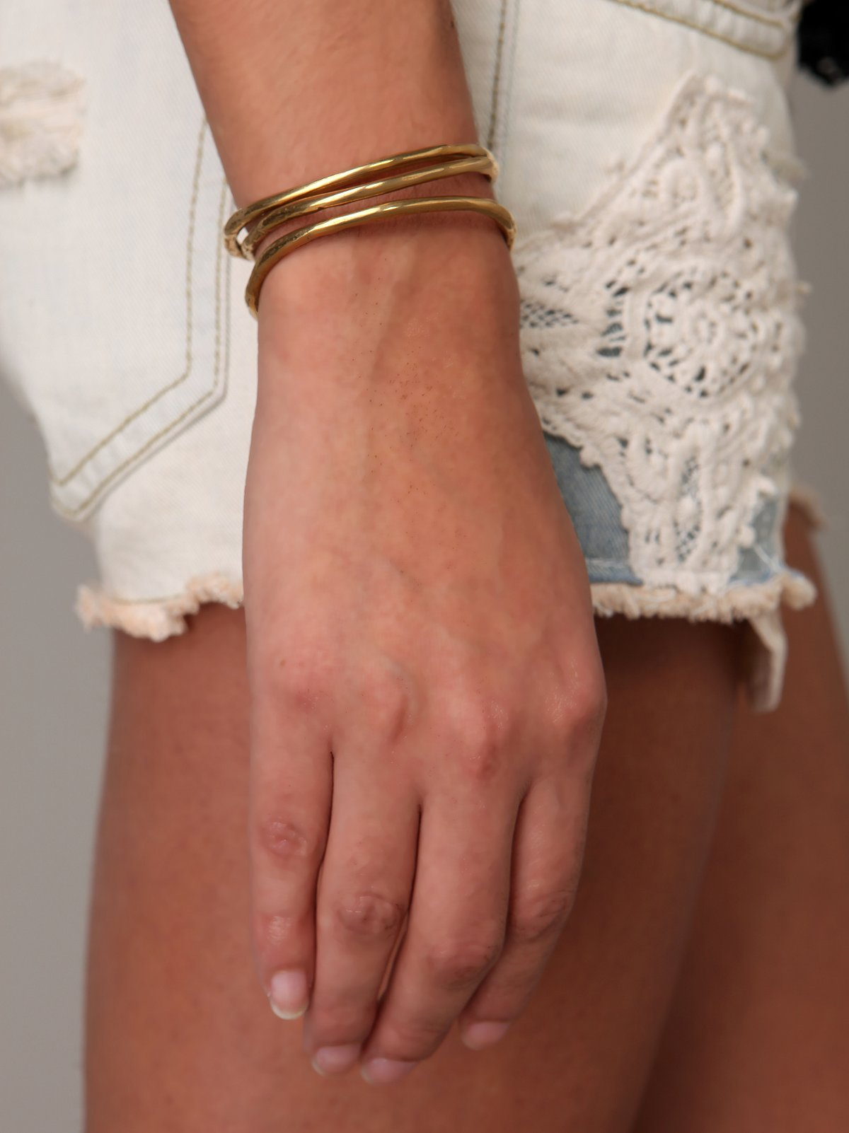 Jessica Seaton Brass Bone Bangle