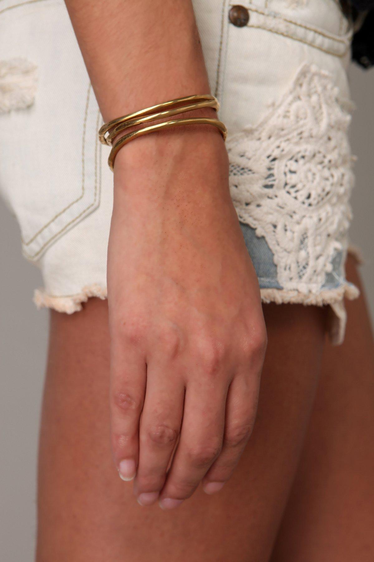 Jessica Seaton Brass Bone Bangle