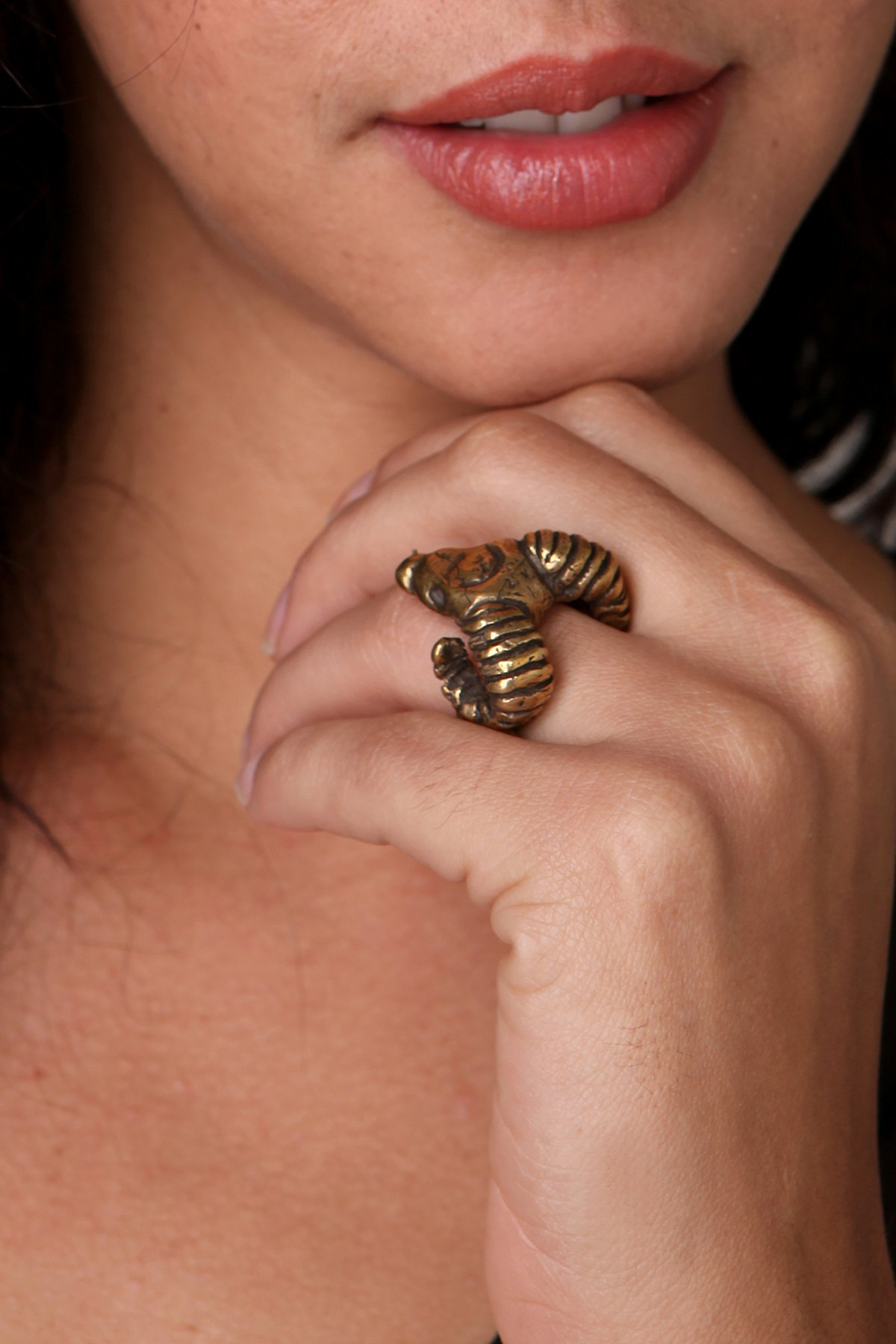 Jessica Seaton Brass Ram Ring