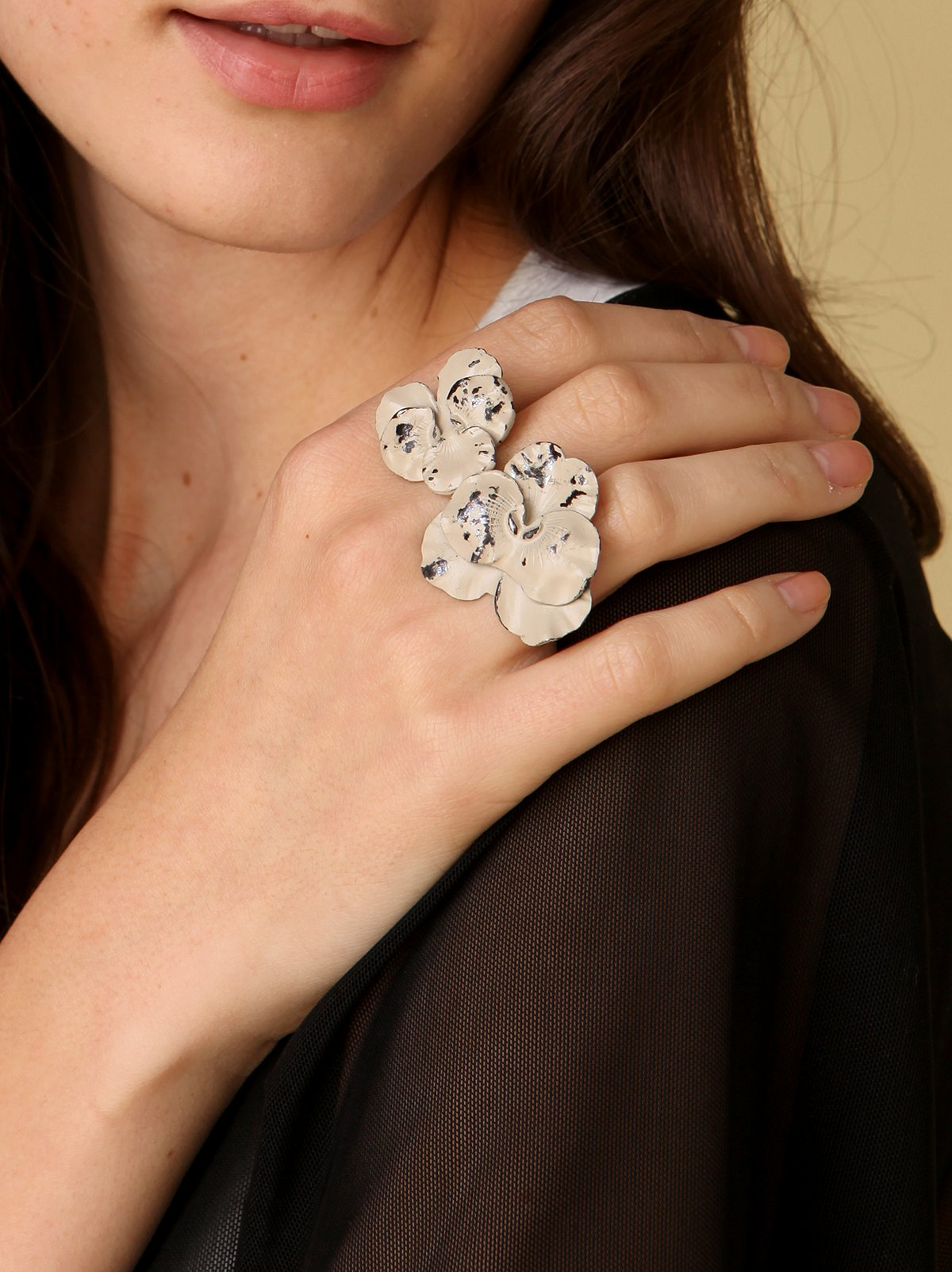 Antiqued Flower Rings