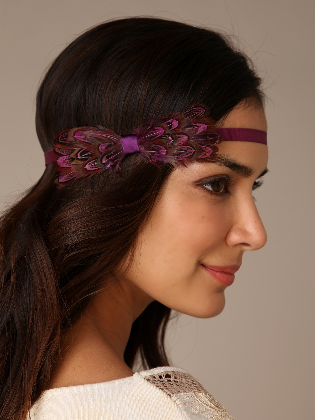 Feather Bow Headband