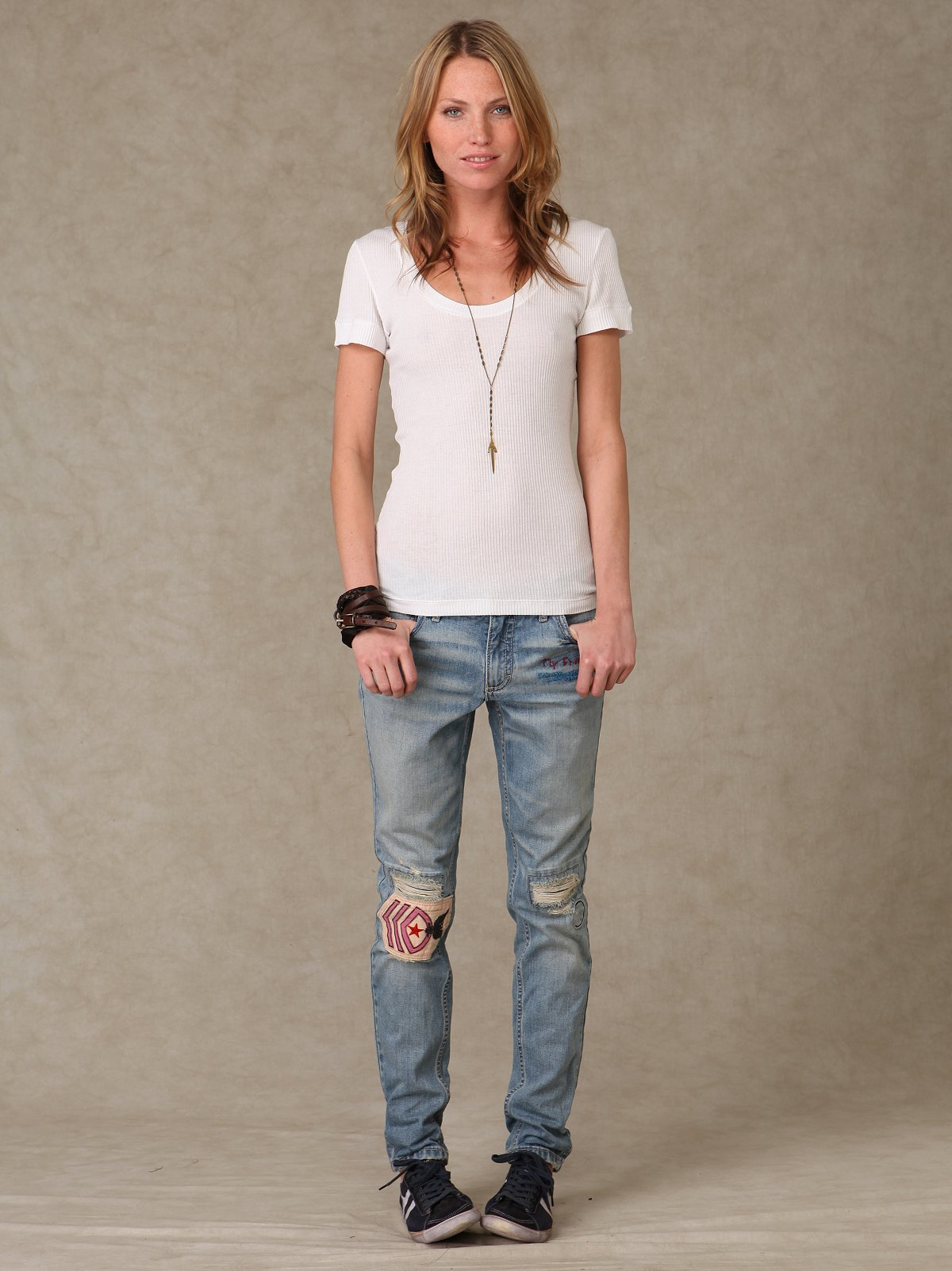 FP Military Patch Skinny Slouch Denim