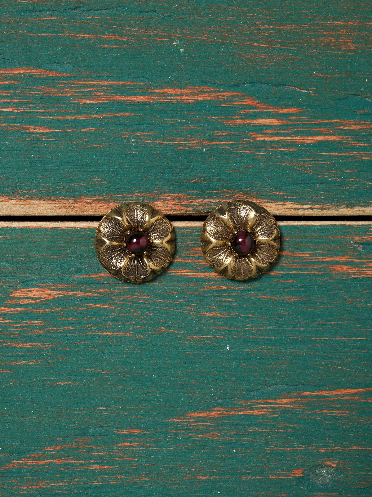 Natural Stone Flower Studs