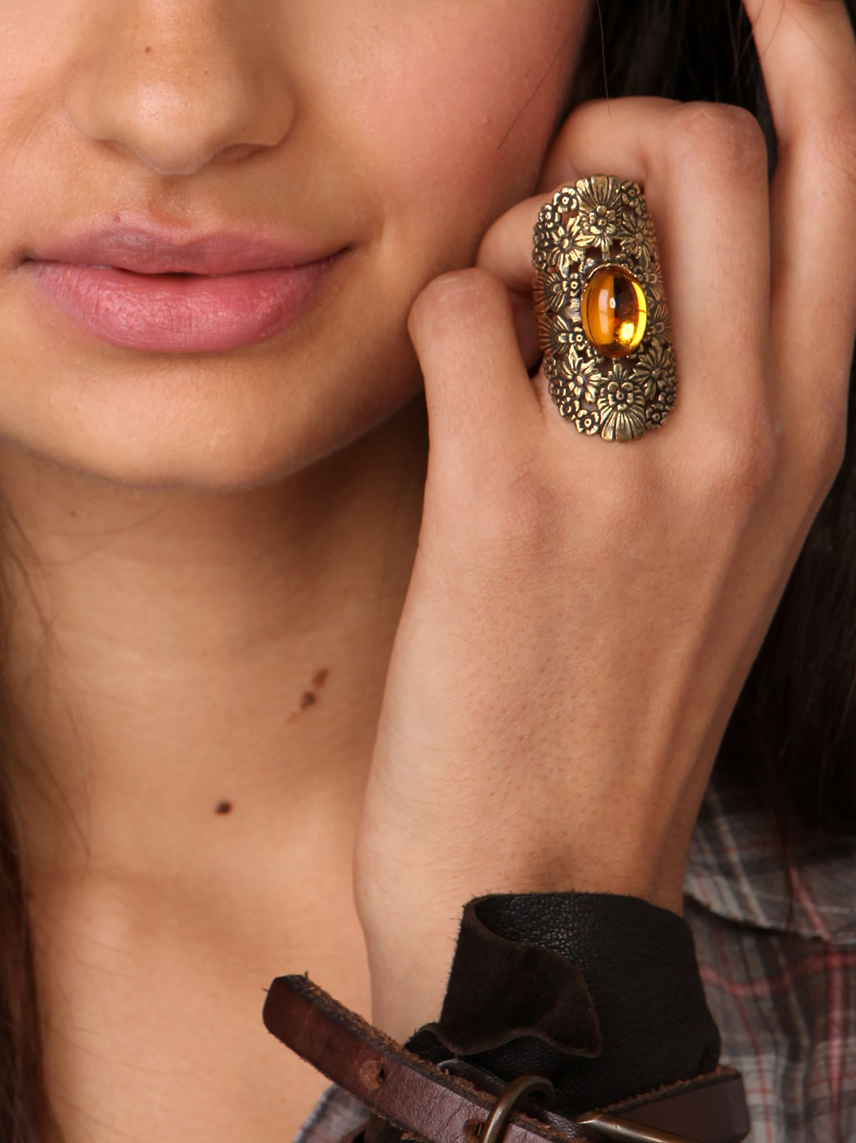 Yellowstone Flower Cuff Ring