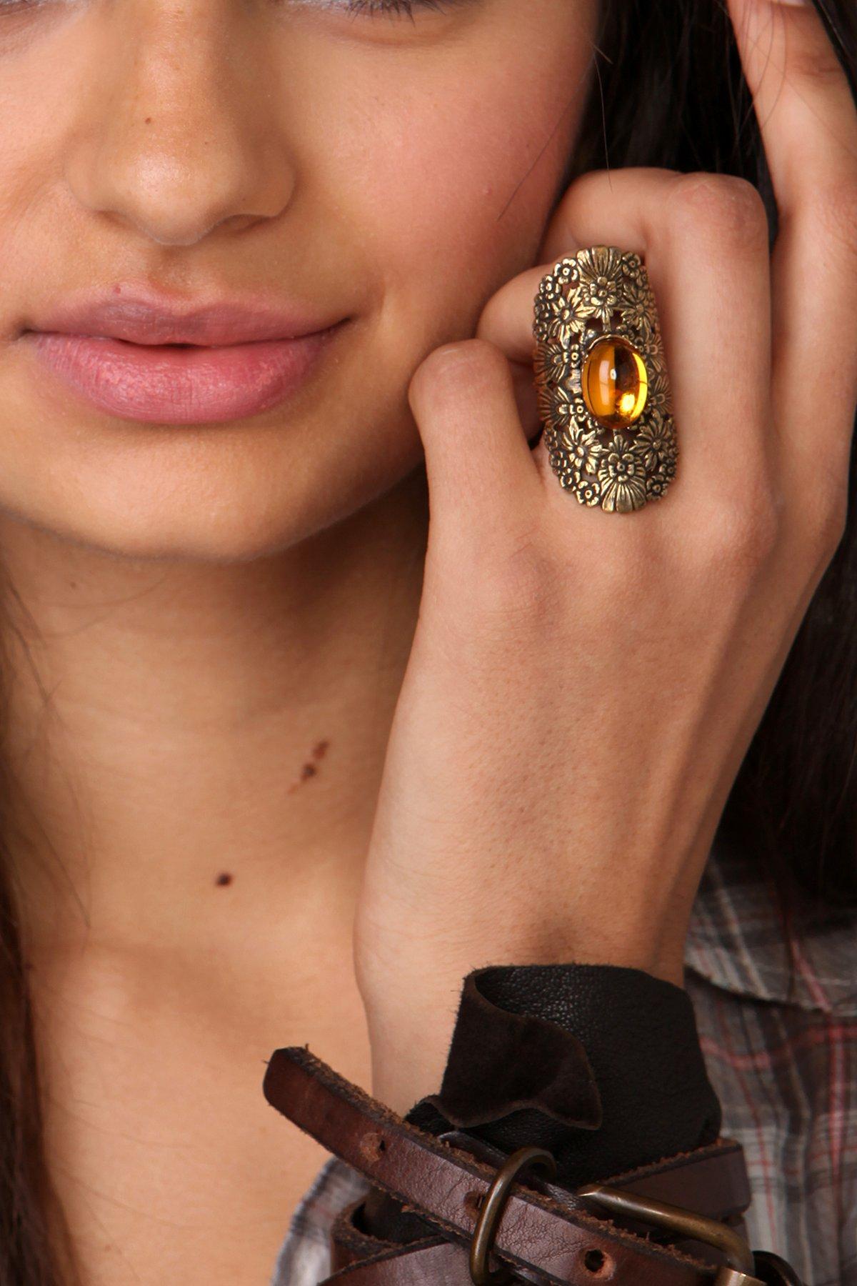 Yellowstone Flower Cuff Ring