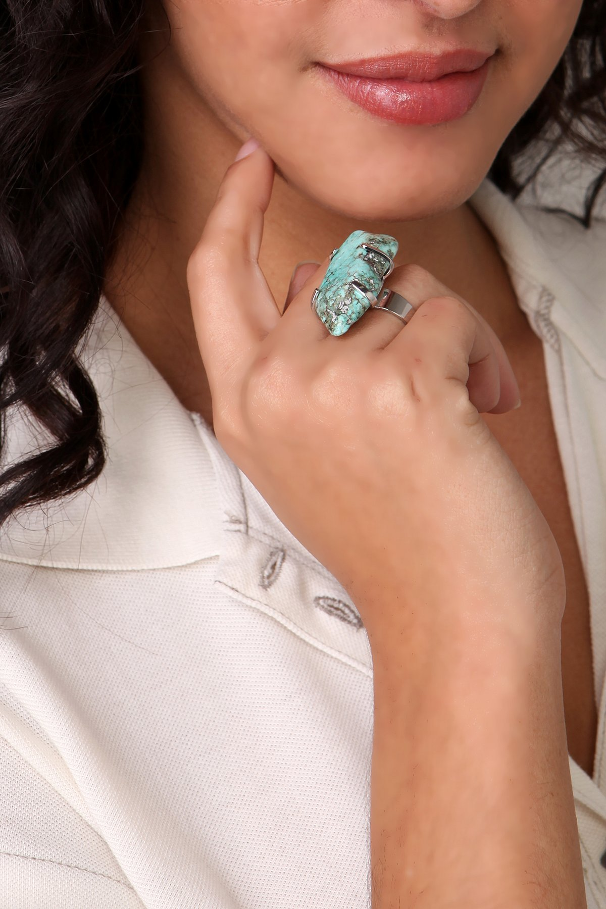 Turquoise Raw Stone Ring