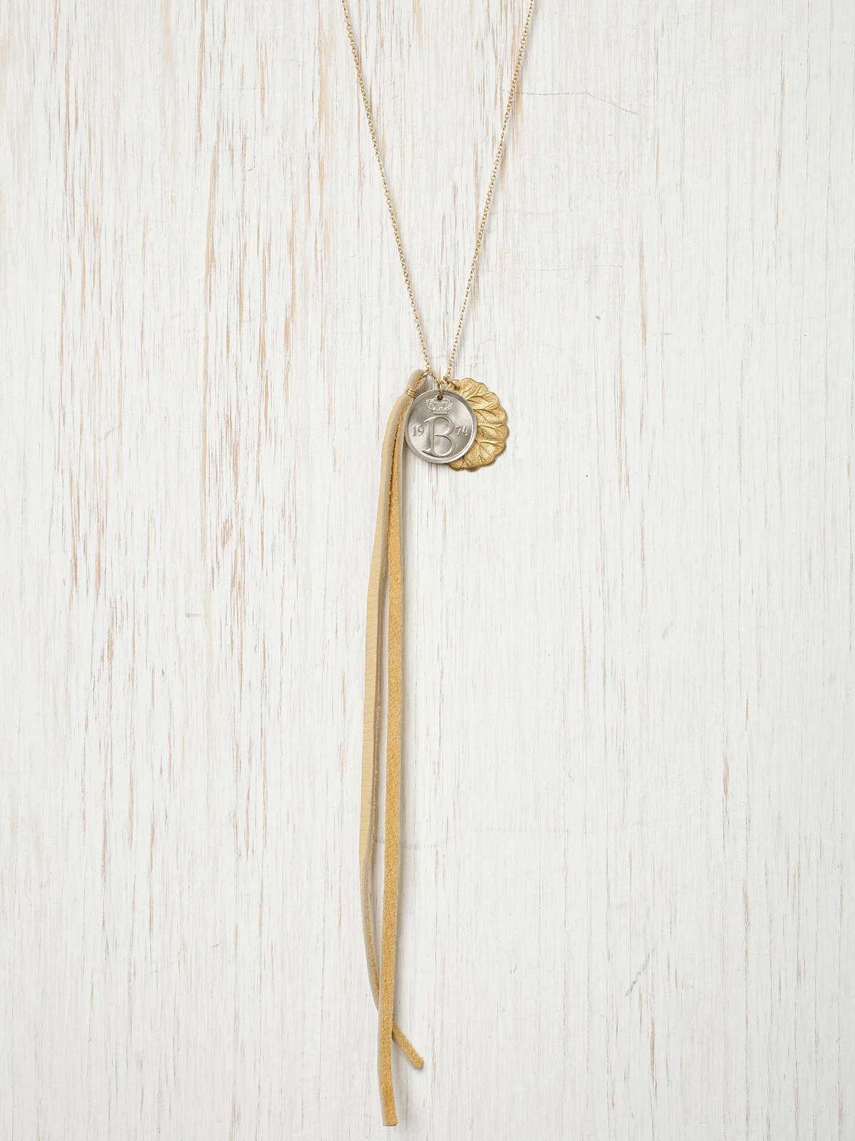 Leaf Coin Chain Necklace