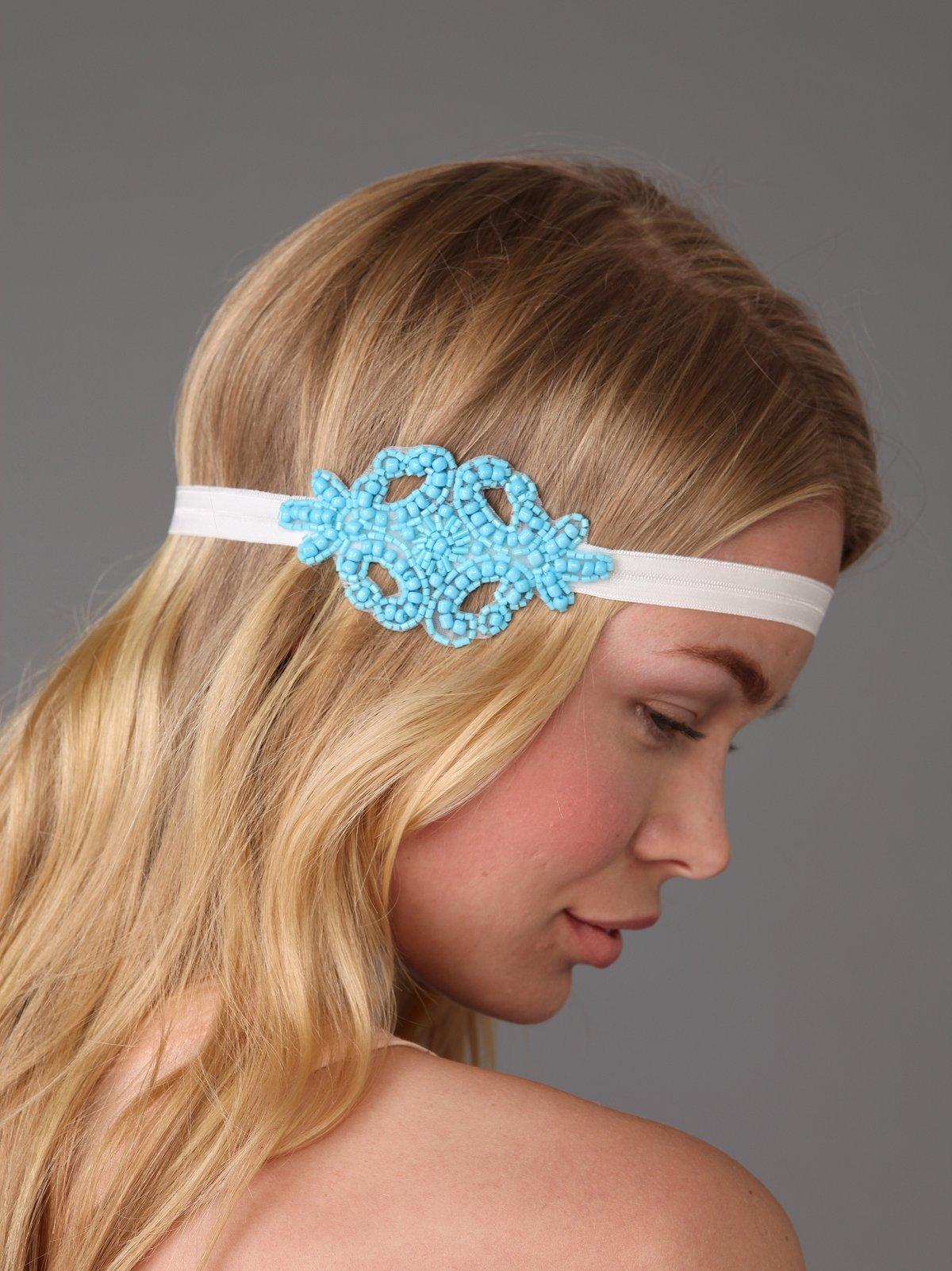 Seed Bead Applique Headband
