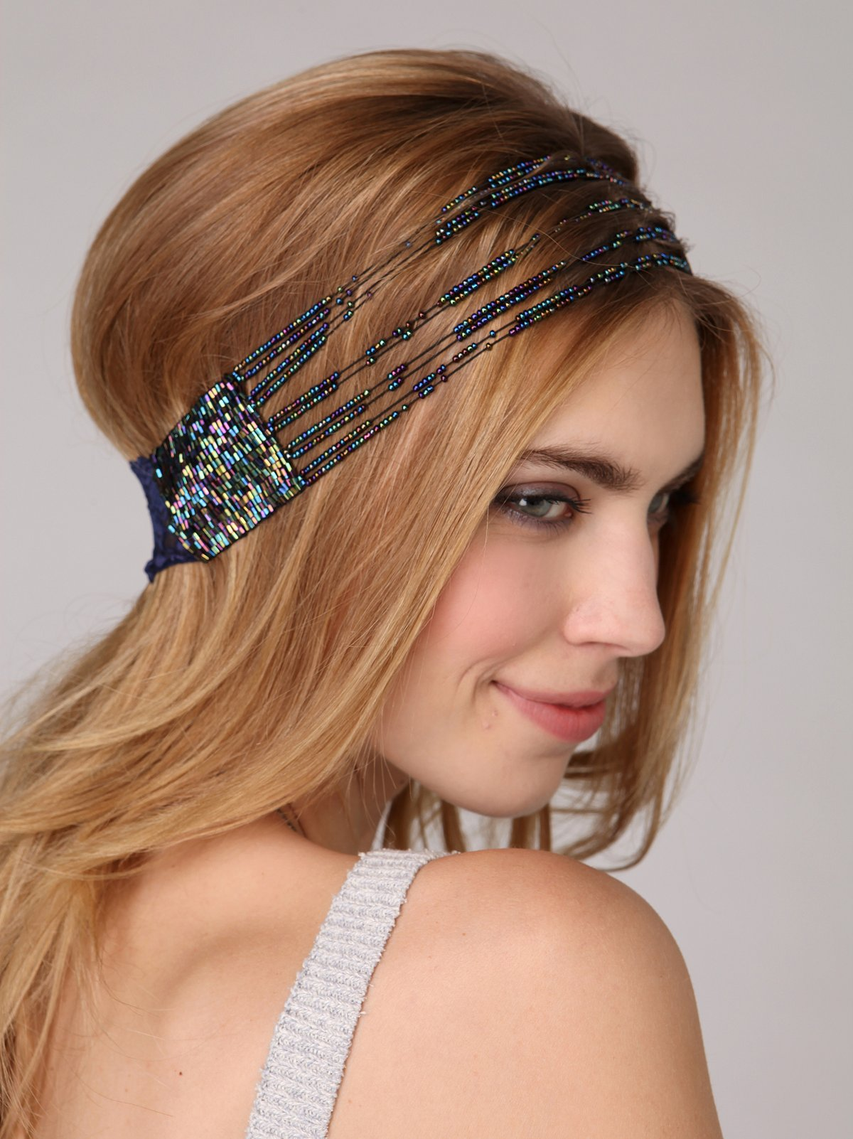 Lace Stranded Seedbead Headband