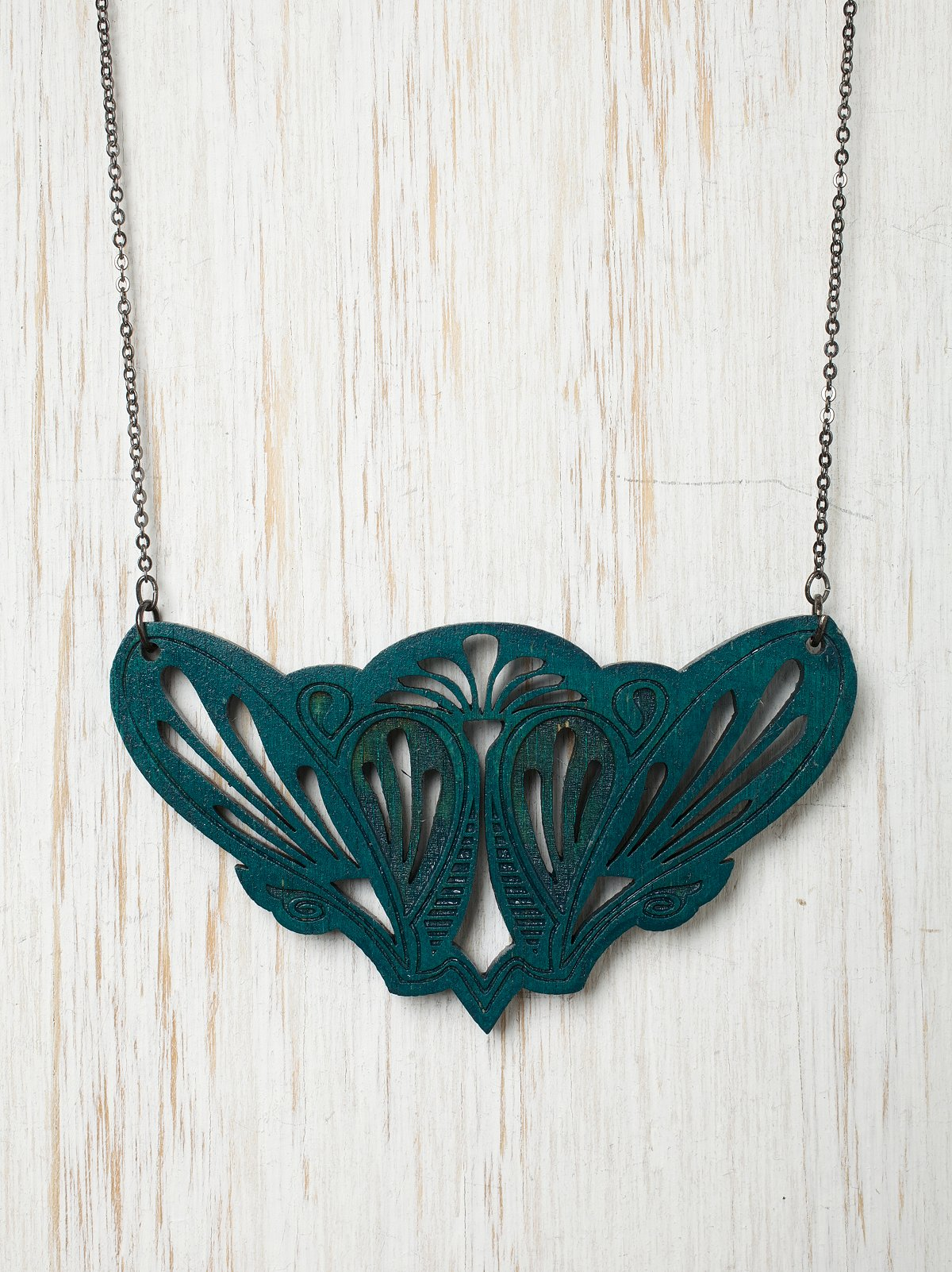 Artemis Cut Wood Necklace