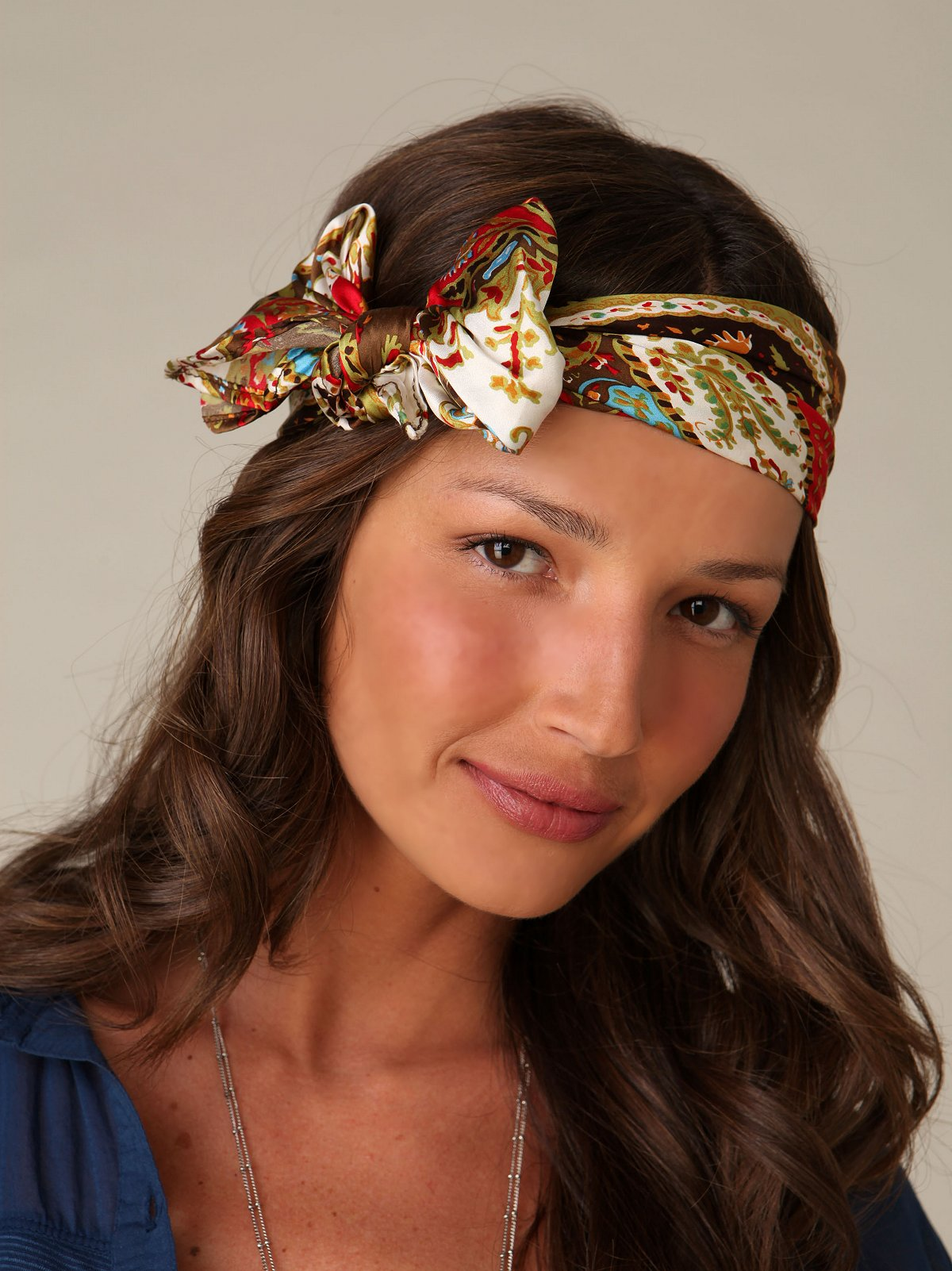 Printed Satin Headband