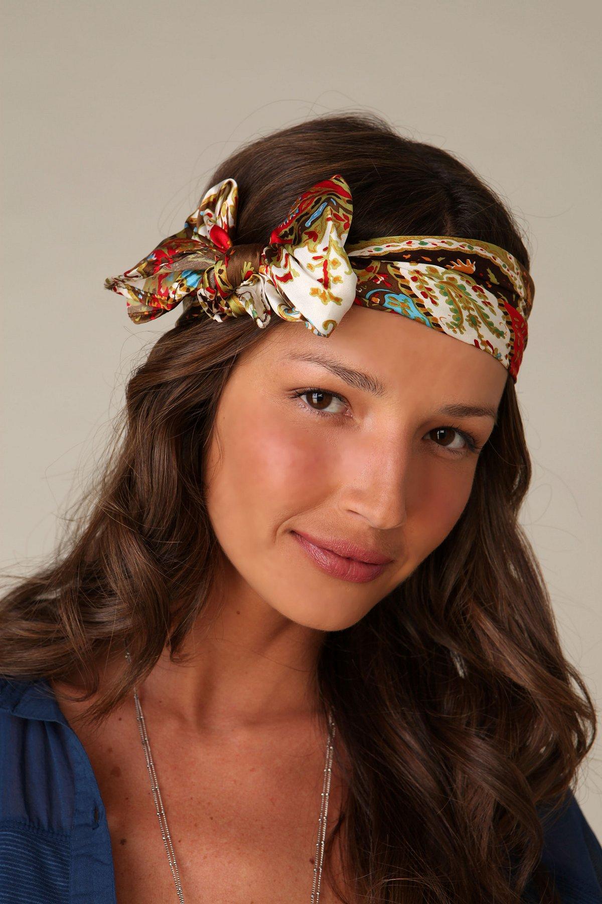 Printed Satin Headband