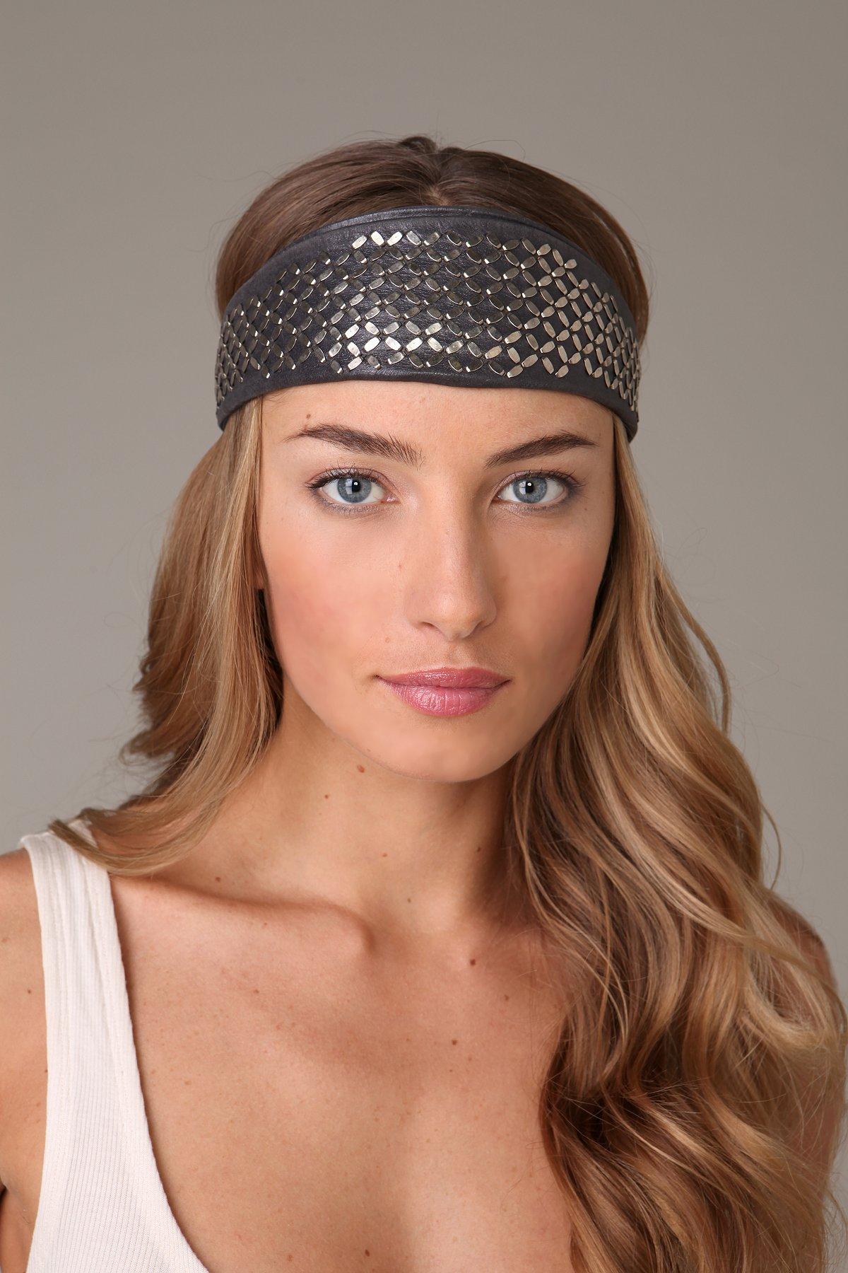 Fresca Leather Tie Back Headband
