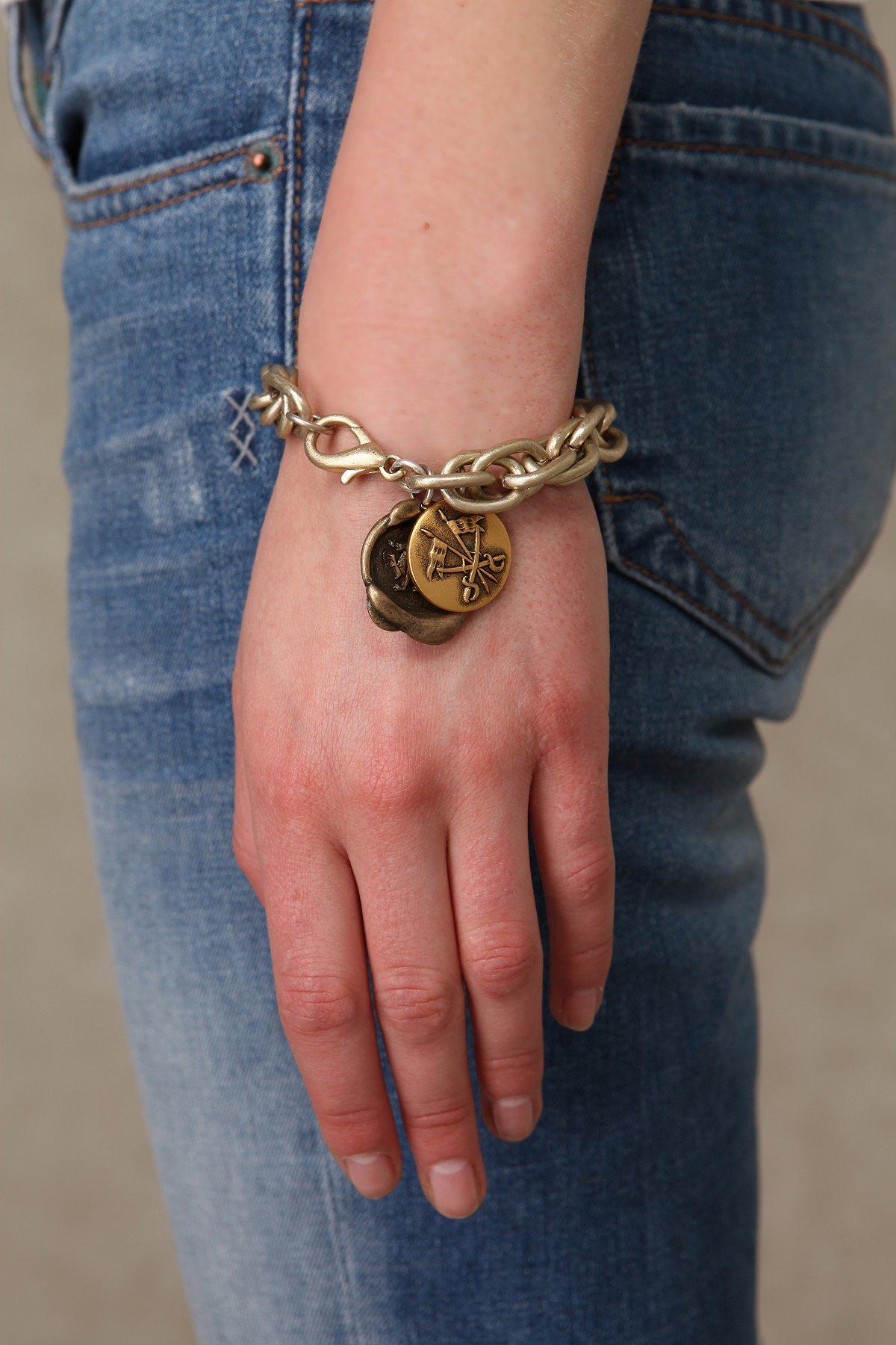 Pressed Coin Bracelet