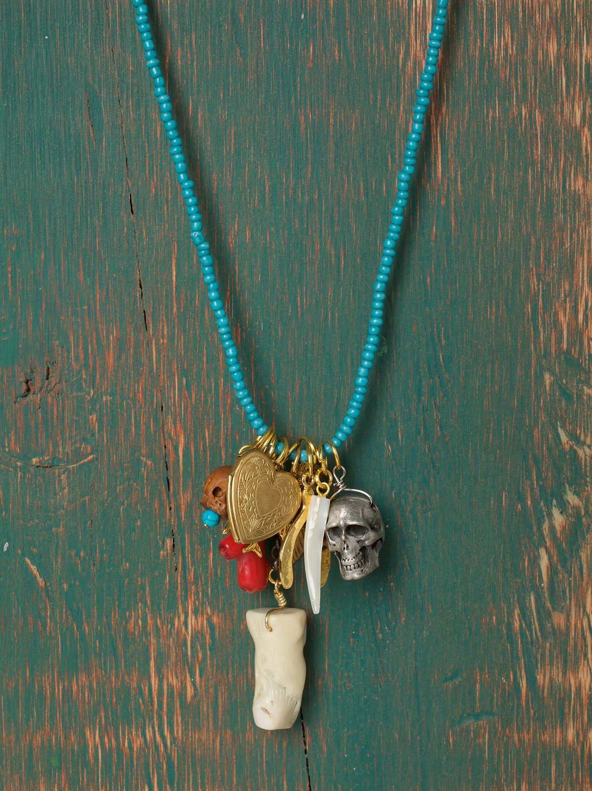 Blue Lagoon Charm Necklace