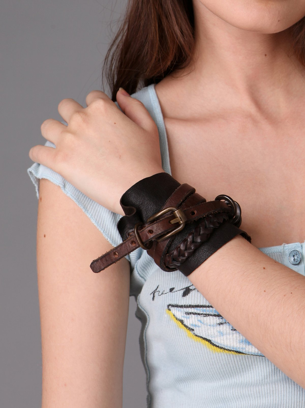 Armed In Leather Cuff