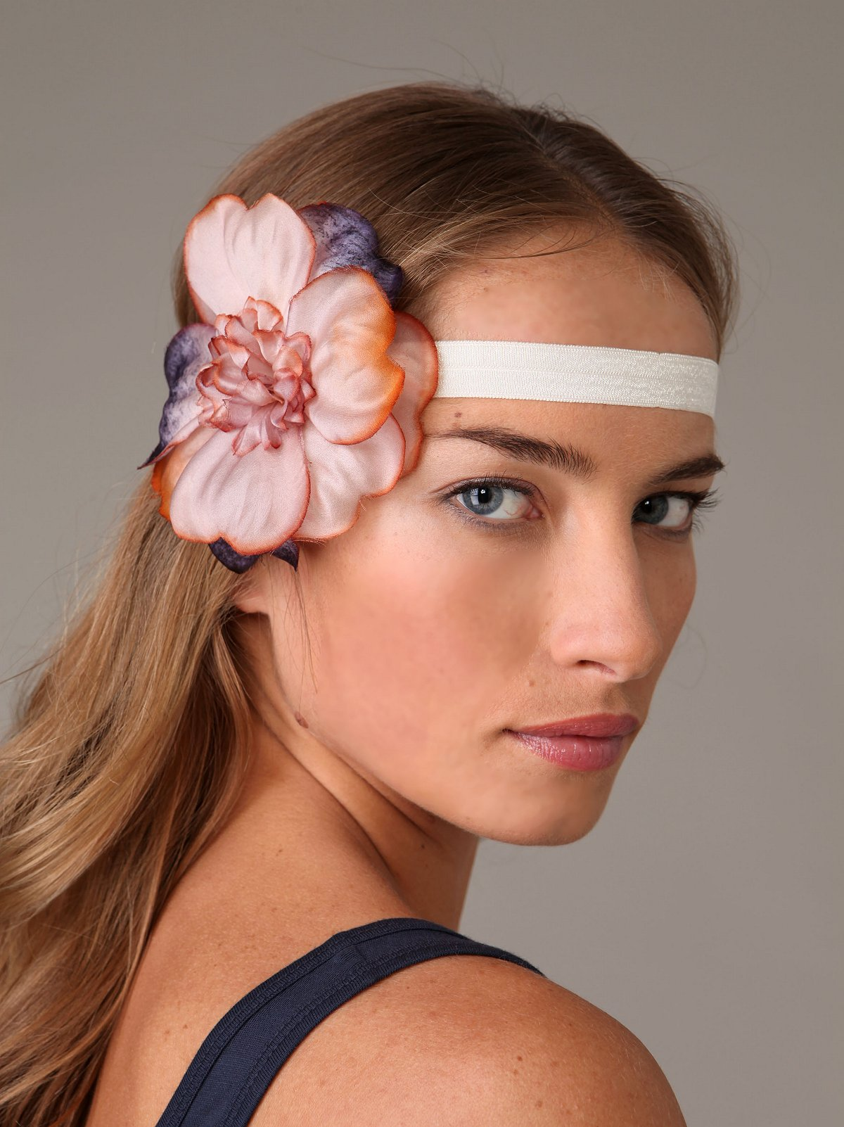 Sunset Flower Rose Headband