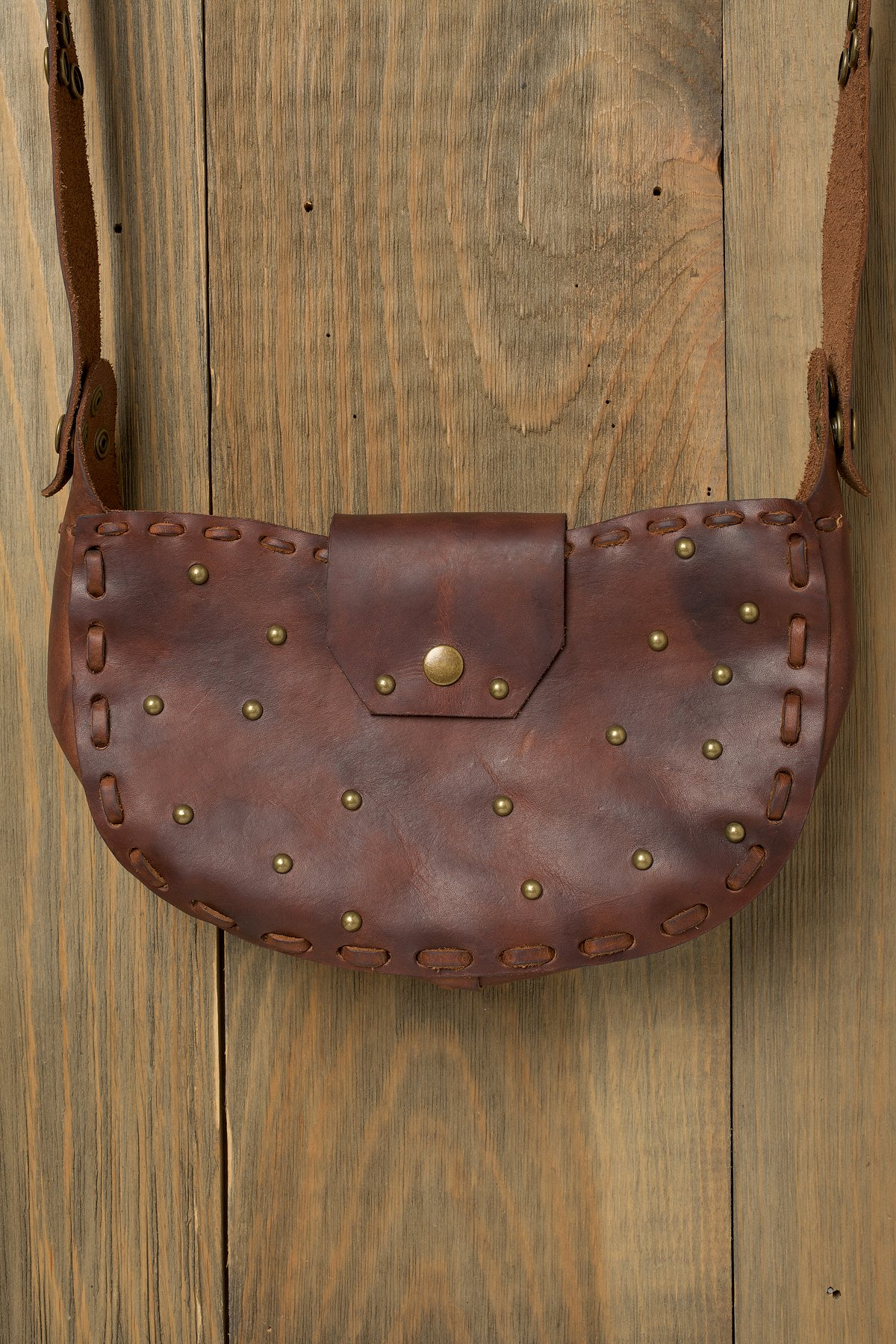 Studded Crescent Bag