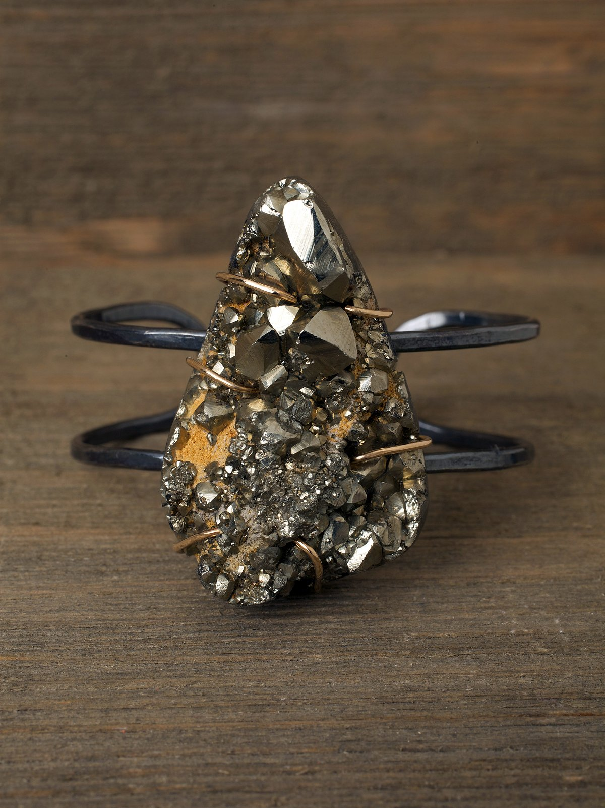 One of a Kind Pyrite Cuff