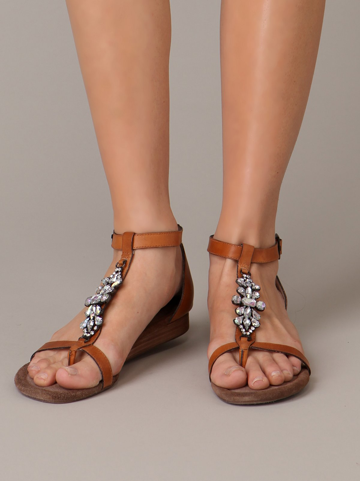 Antiqued Crystal Sandal