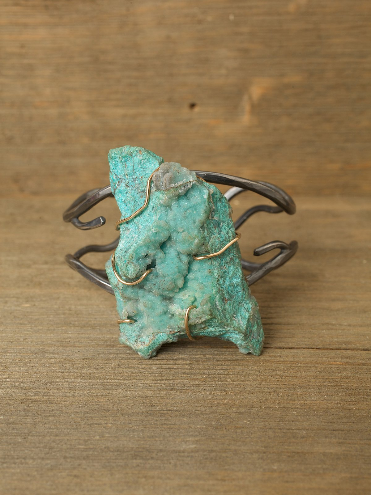 One Of A Kind Turquoise Stone Cuff