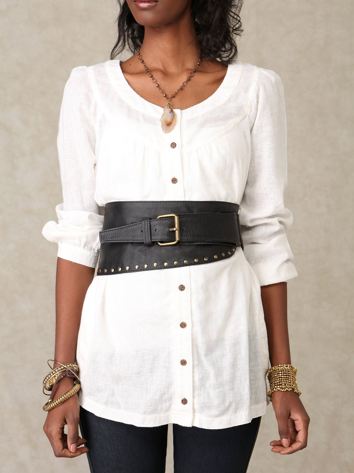 Antionette Buckled Corset Waist Belt